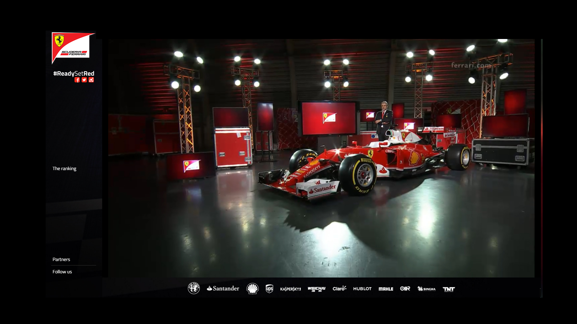 Team reveal via livestream Scuderia Ferrari ReadySetRed SF16-H F1 2016