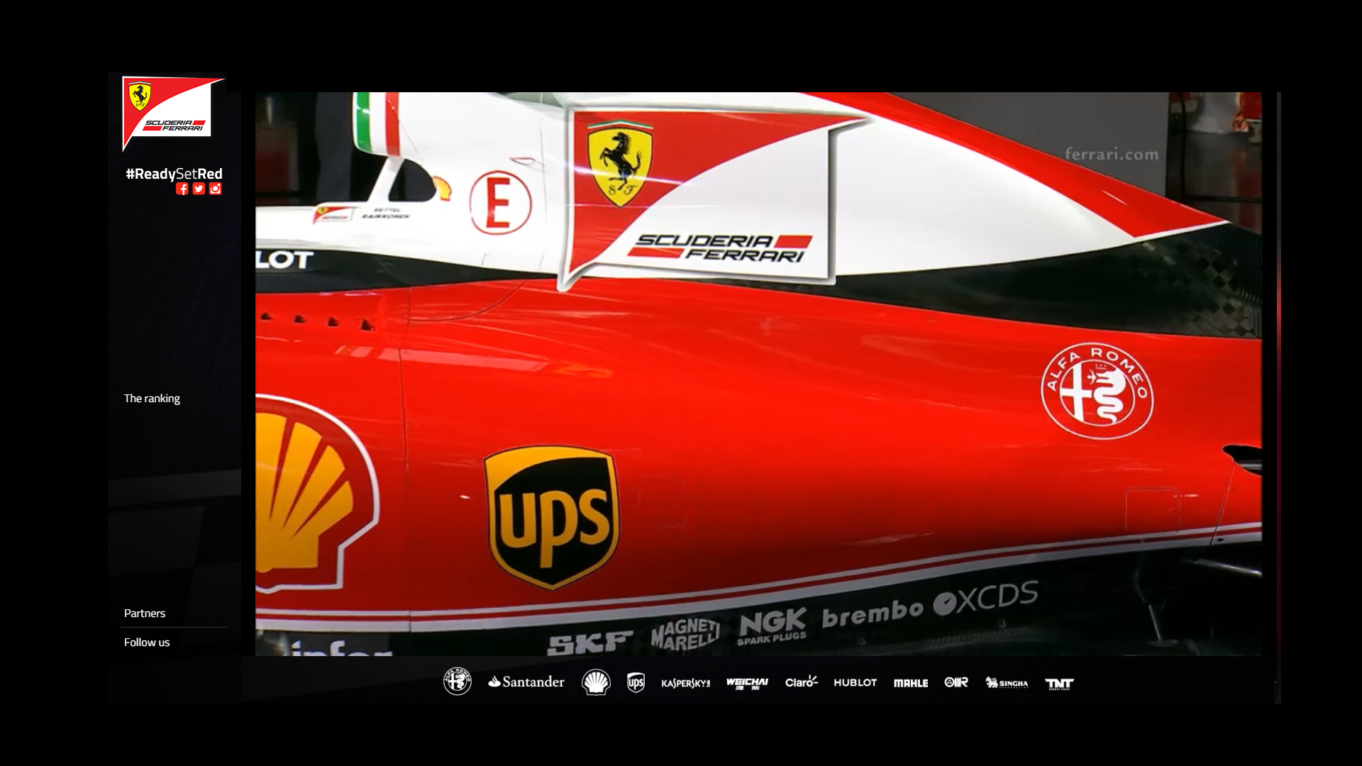 SF16-H - top engine via livestream Scuderia Ferrari ReadySetRed SF16-H F1 2016