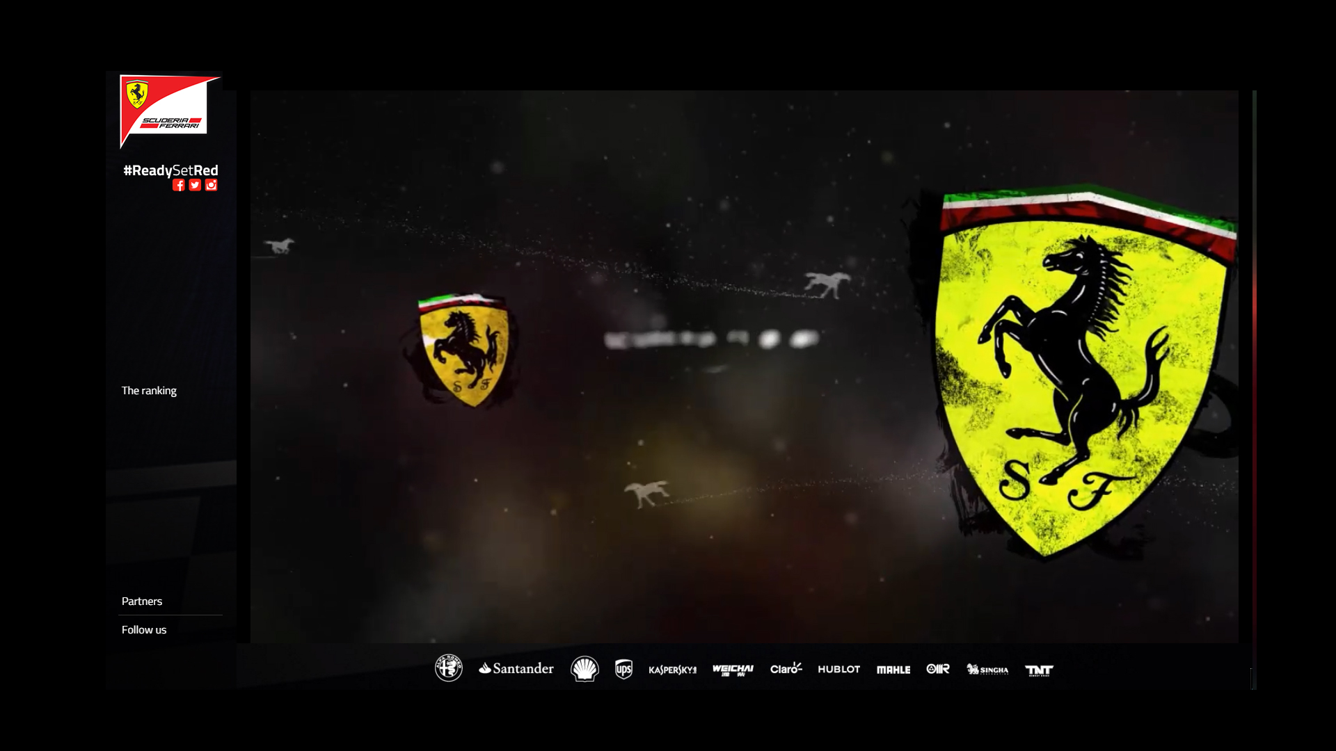 Artwork start - avant / front via livestream Scuderia Ferrari ReadySetRed SF16-H F1 2016