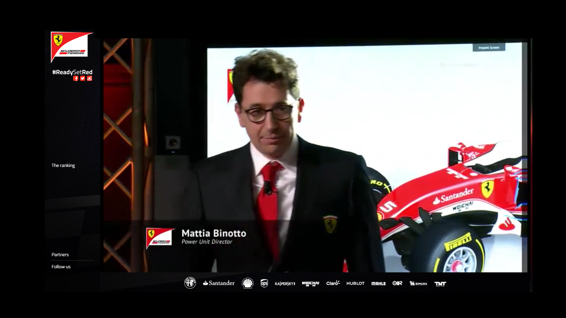 Power Unit Director via livestream Scuderia Ferrari ReadySetRed SF16-H F1 2016