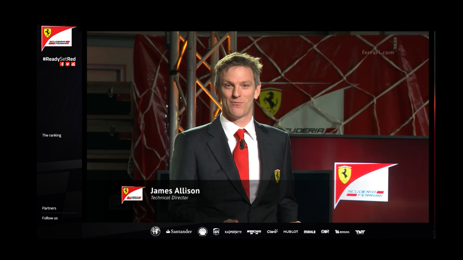 Technical Director via livestream Scuderia Ferrari ReadySetRed SF16-H F1 2016
