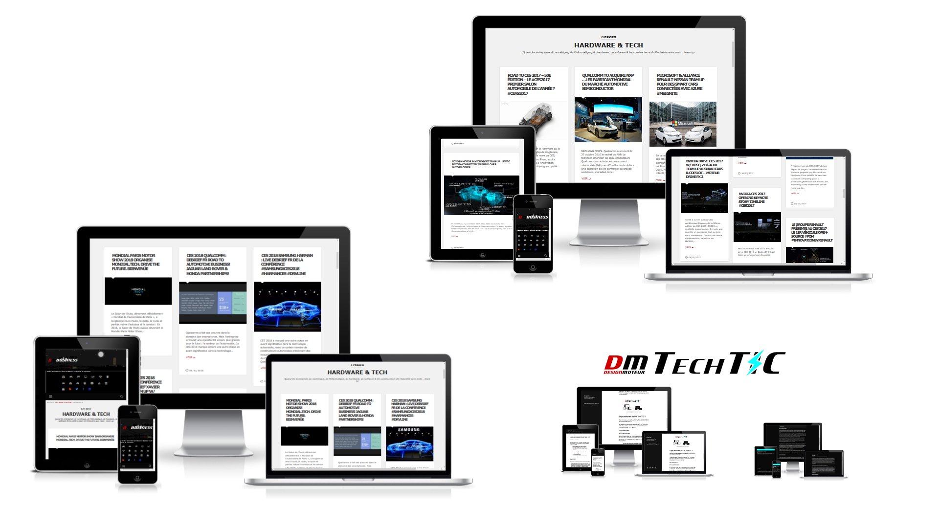 DESIGNMOTEUR secteur Hardware Tech - screens website