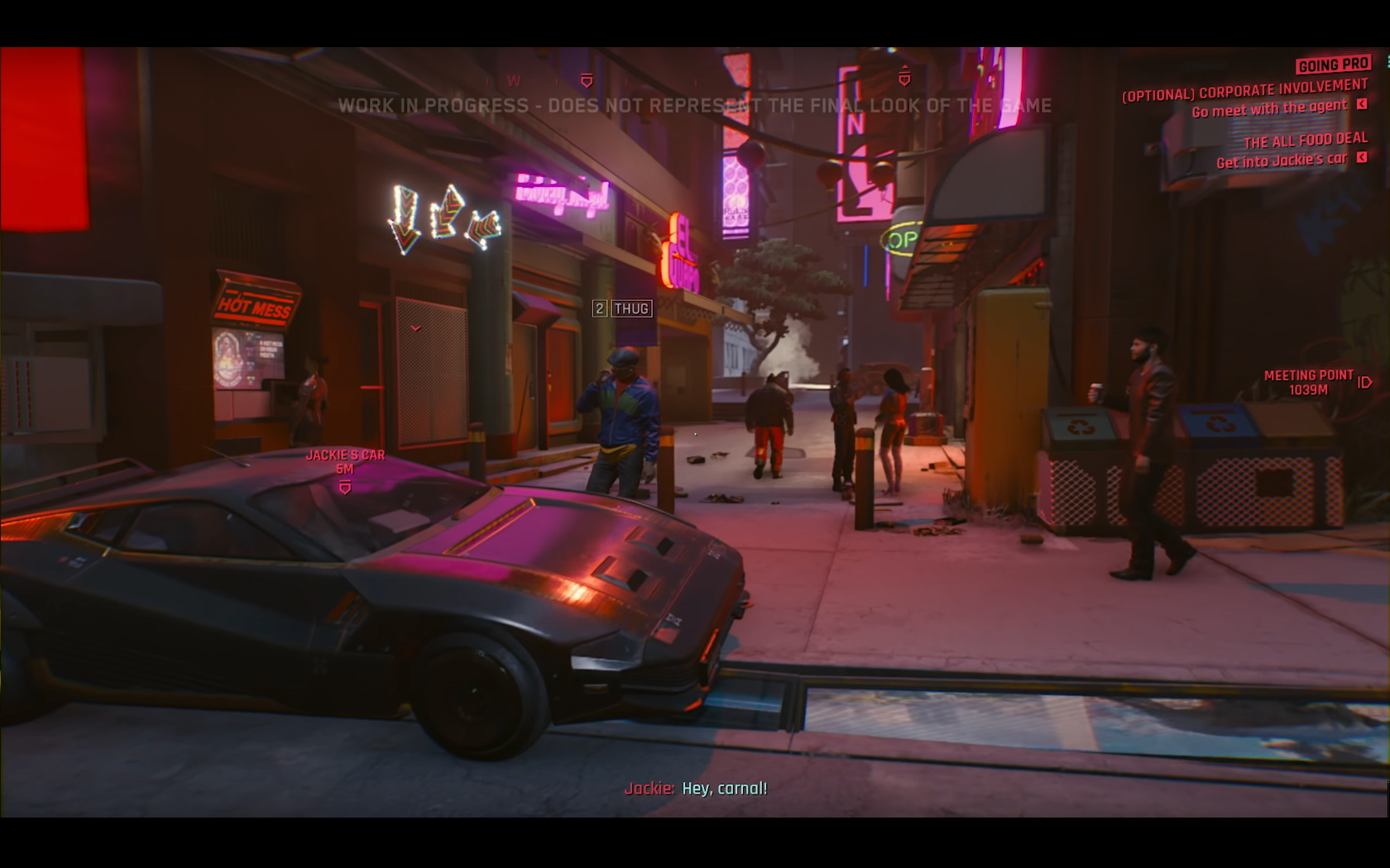 CD Projekt Red - Cyberpunk 2077 - video reveal gameplay - 2018 - screen - sports car QUADRA - side-face