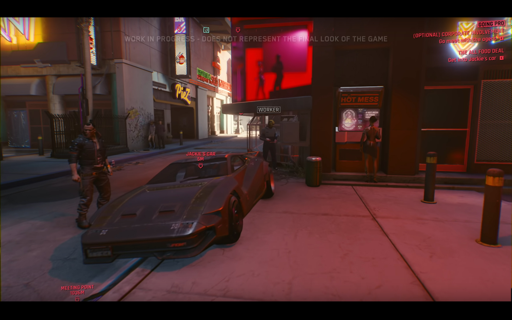 CD Projekt Red - Cyberpunk 2077 - video reveal gameplay - 2018 - screen - sports car QUADRA - front face