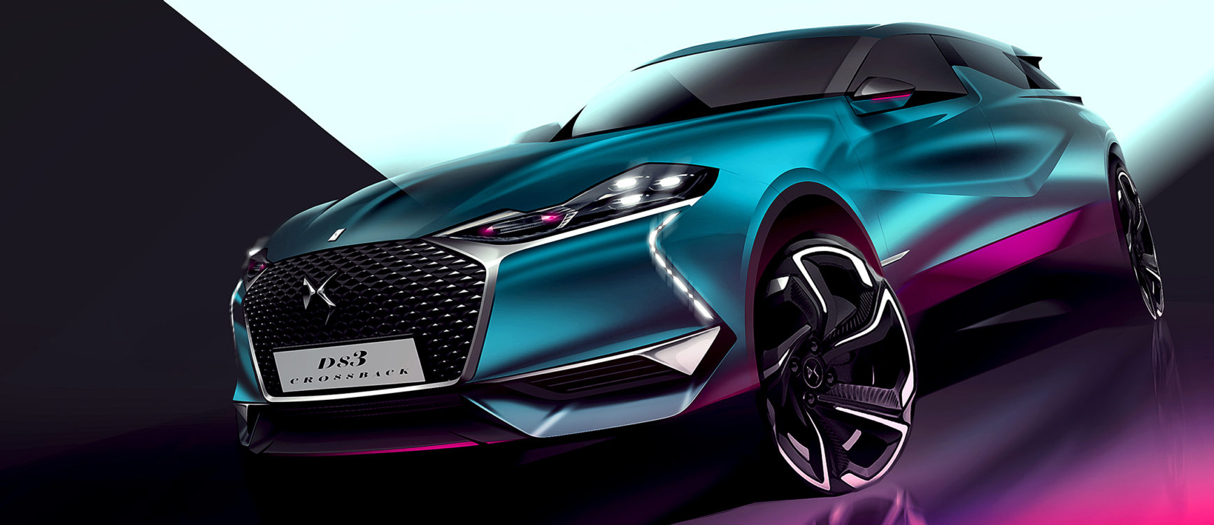 DS 3 Crossback - 2018 - sketch front