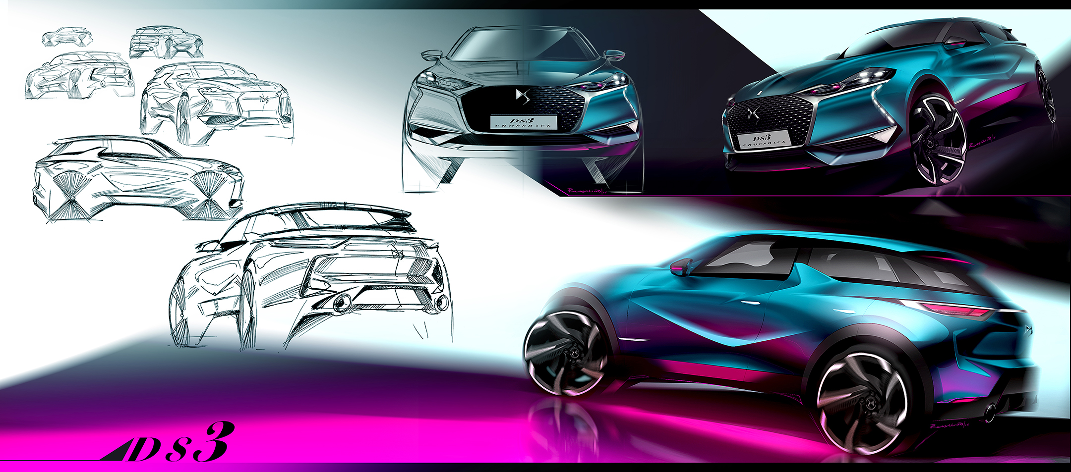 DS 3 Crossback - 2018 - sketch design