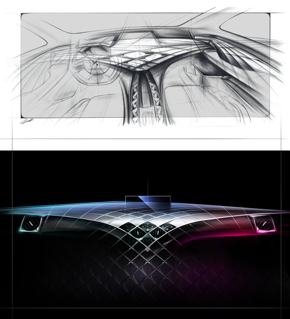 2018 - [DS Automobiles] DS 3 Crossback (D34) - Page 18 DS3-Crossback-2018-sketch-interior-931x1024