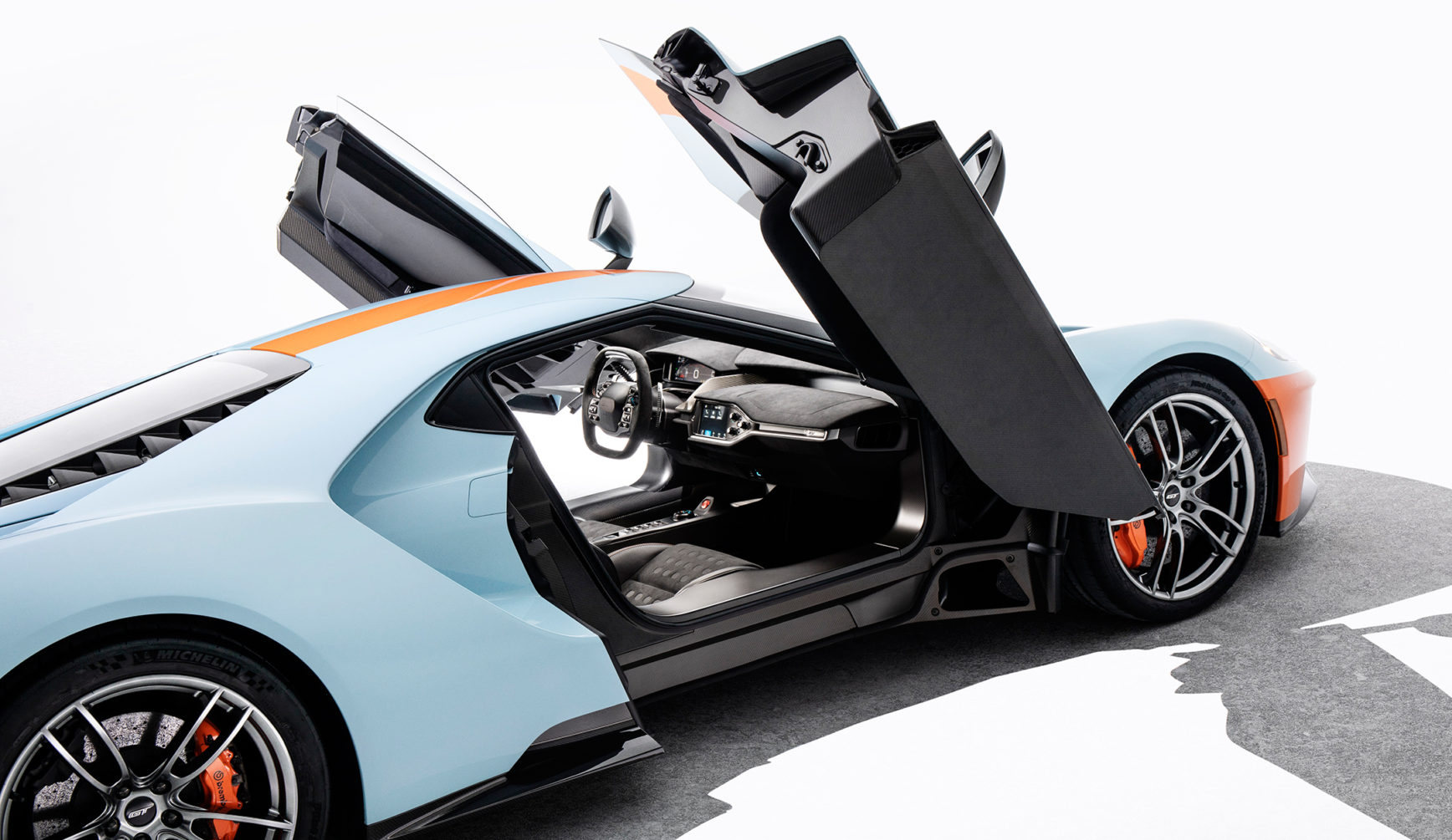 Ford GT Heritage Edition Gulf - 2018 - open doors / portes ouvertes