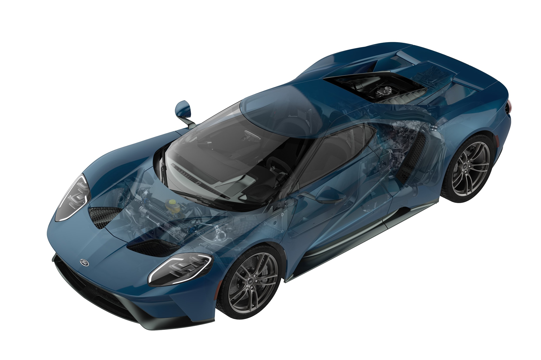 Ford GT -powertrain - picture via MotorTrend CA