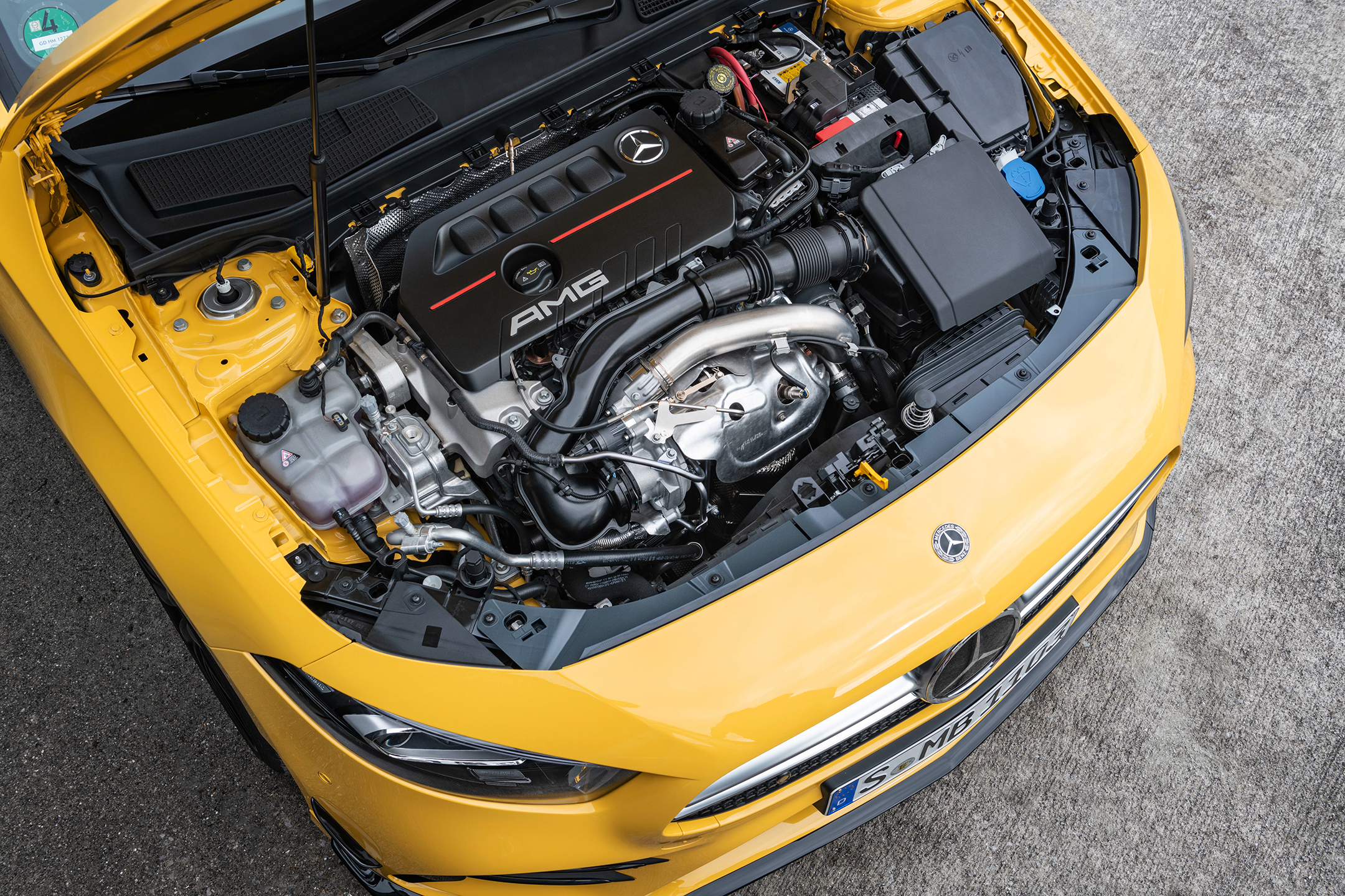 Mercedes-AMG A35 4MATIC - 2018 - under the hood - engine / moteur