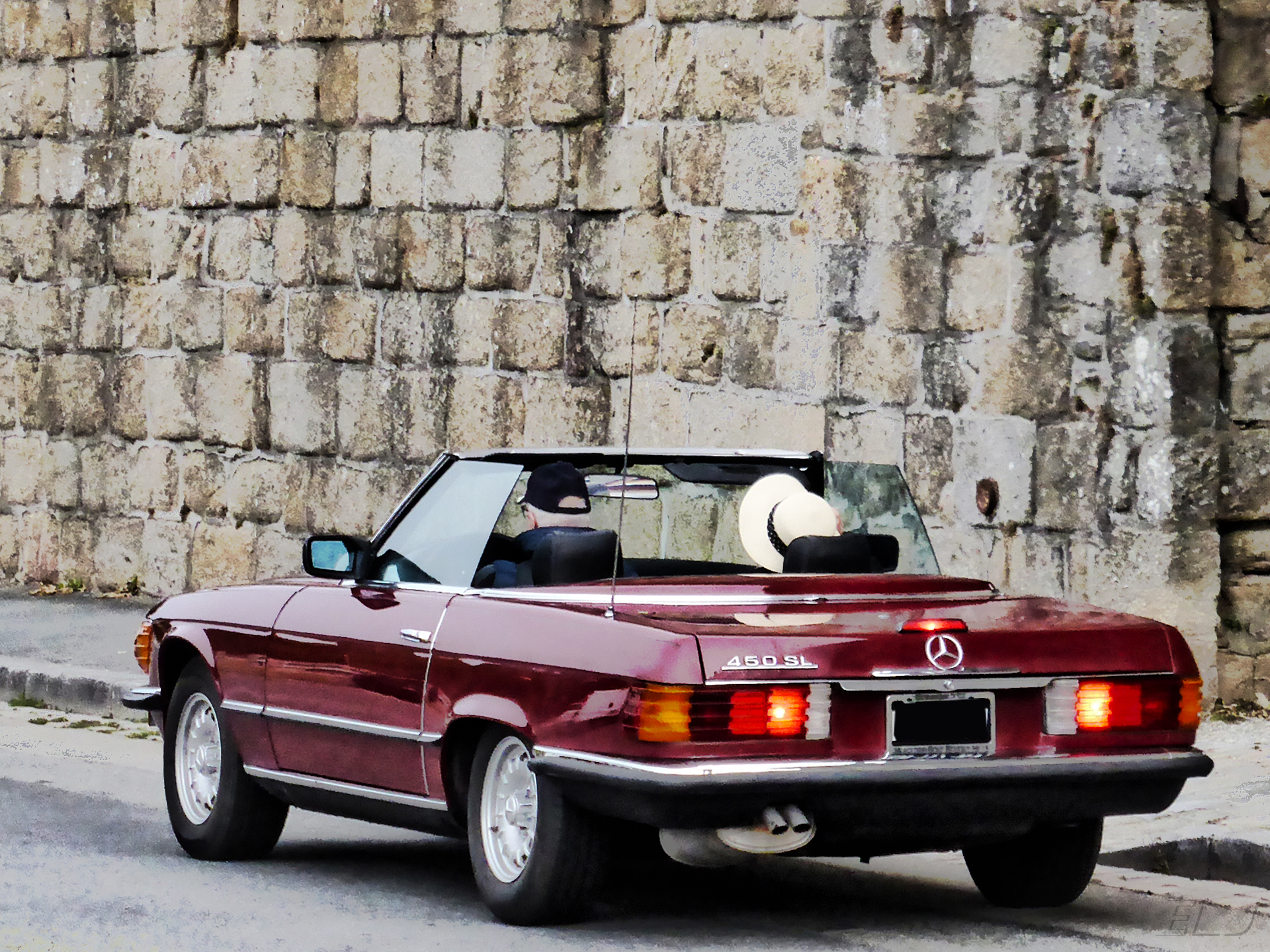 Mercedes-Benz 450 SL - rear road - AVAM - 2018 - photo by ELJ