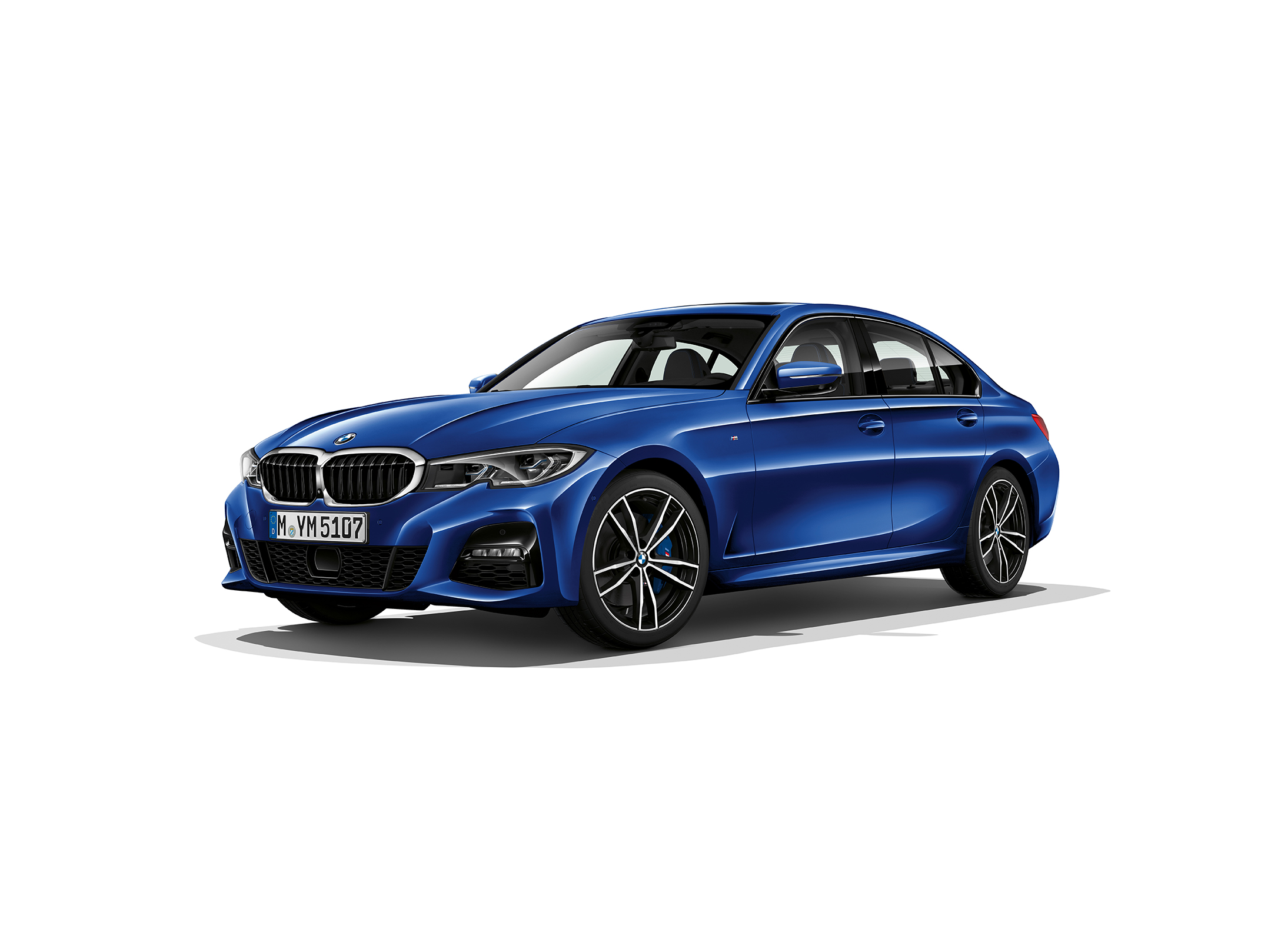 BMW Serie 3 Berline - 2018 - front side-face / profil avant