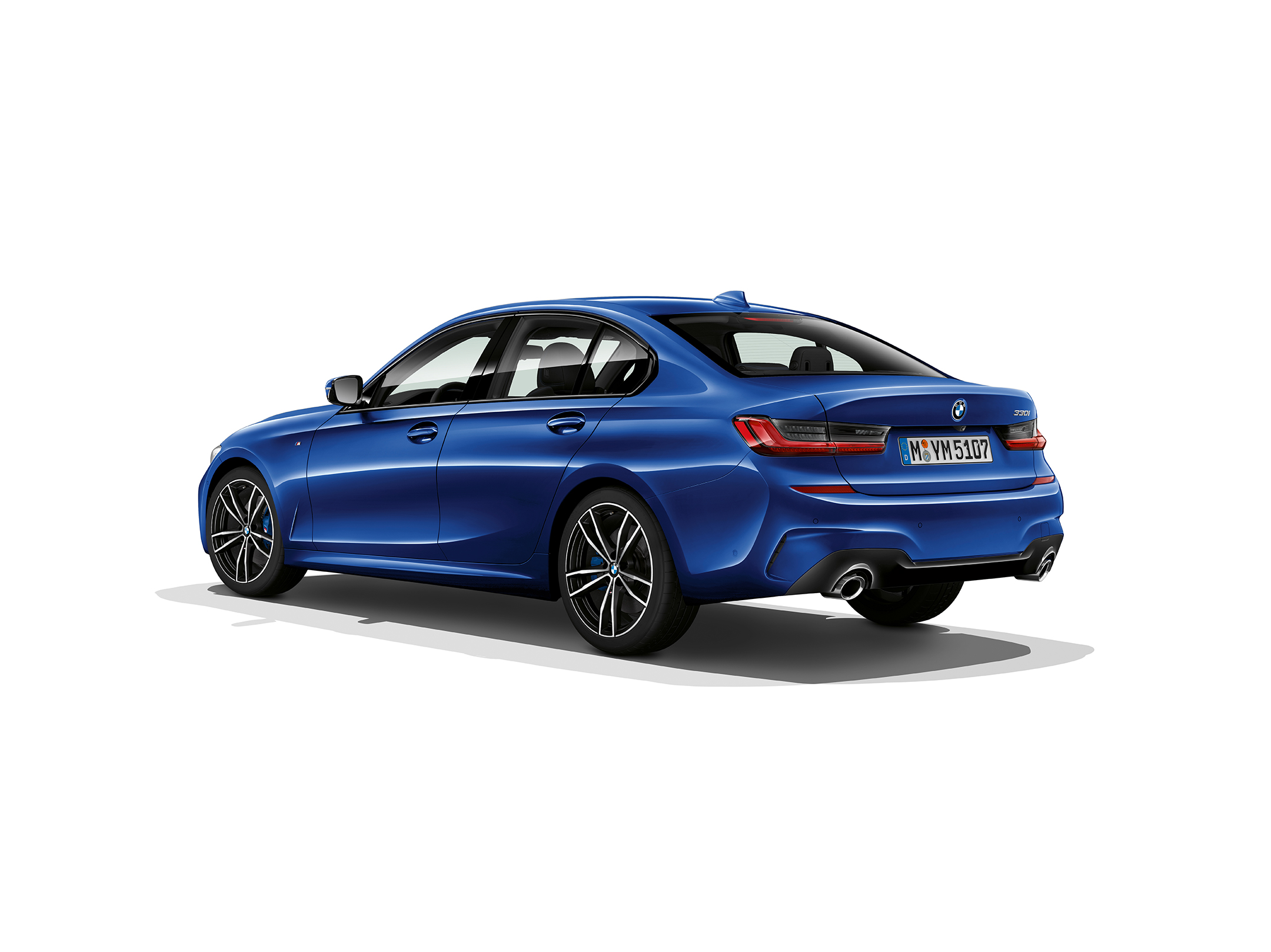 BMW Serie 3 Berline - 2018 - rear side-face / profil arrière