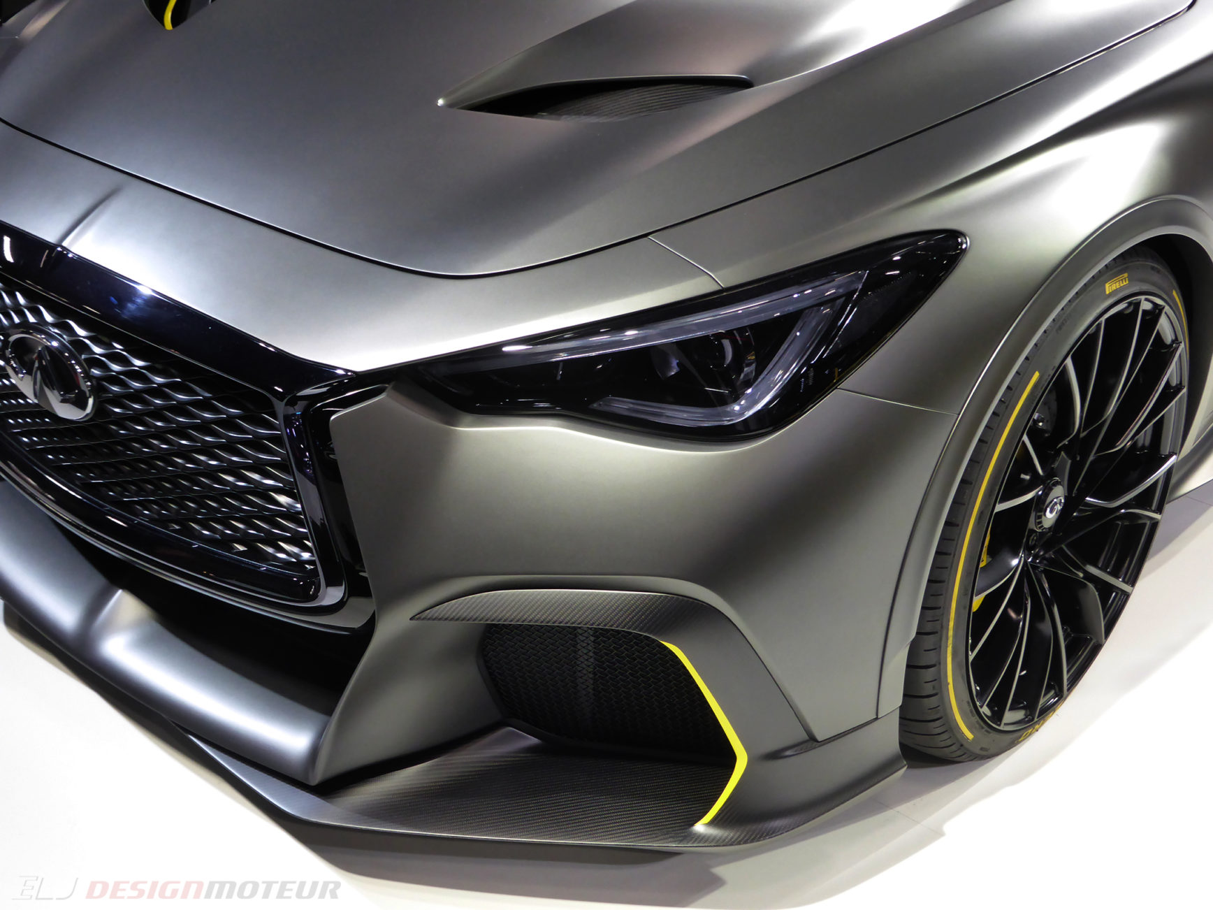 Infiniti Project Black S - front light - Paris Motor Show - 2018 - Mondial Auto - photo ELJ DESIGNMOTEUR
