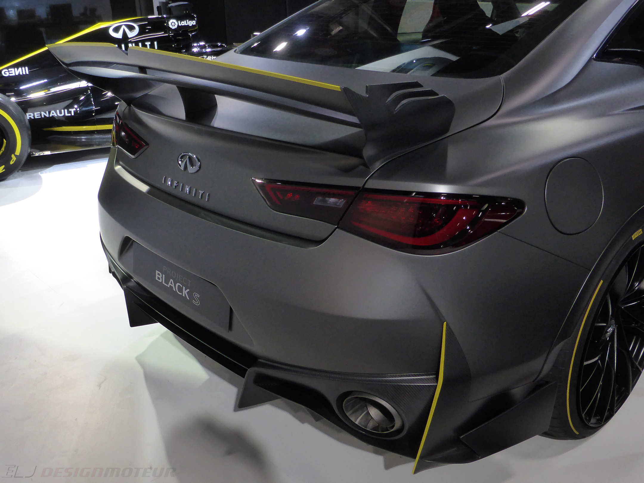 Infiniti Project Black S - rear light - Paris Motor Show - 2018 - Mondial Auto - photo ELJ DESIGNMOTEUR