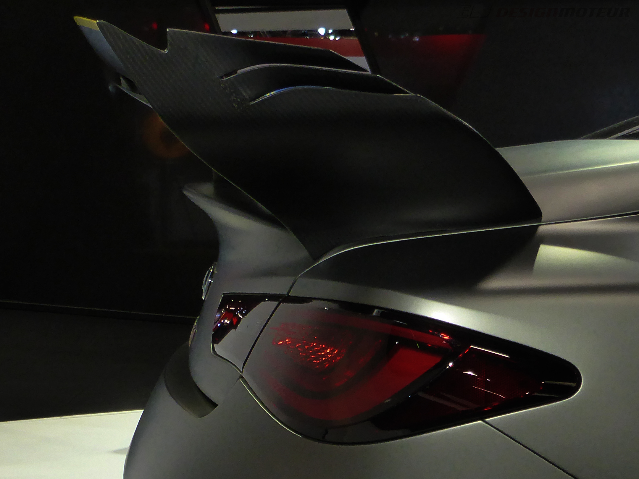 Infiniti Project Black S - aero rear wing - Paris Motor Show - 2018 - Mondial Auto - photo ELJ DESIGNMOTEUR