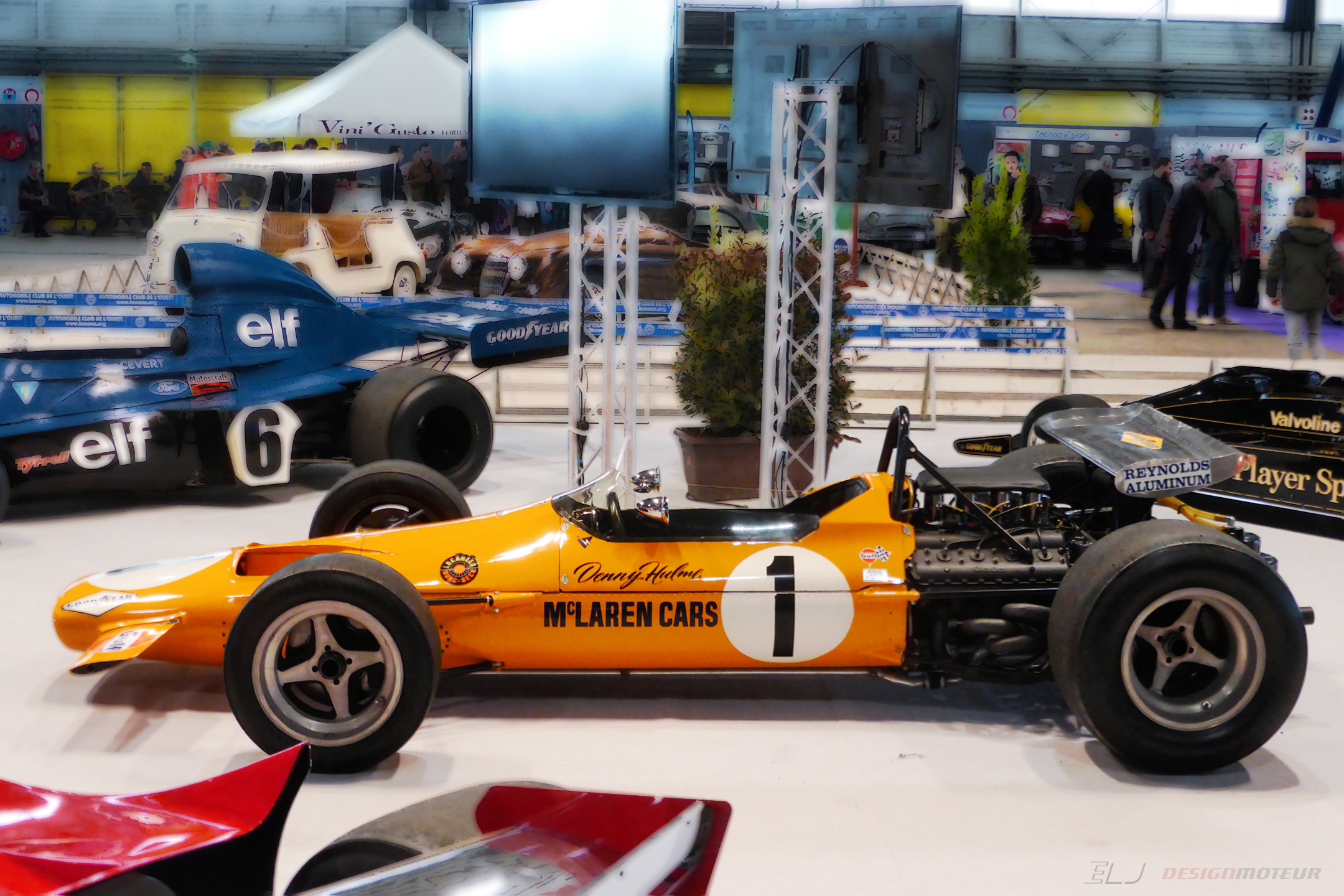 McLaren M7A - 1968 - F1 - side-face view - Ouest Motors Festival 2018 - photo ELJ DESIGNMOTEUR