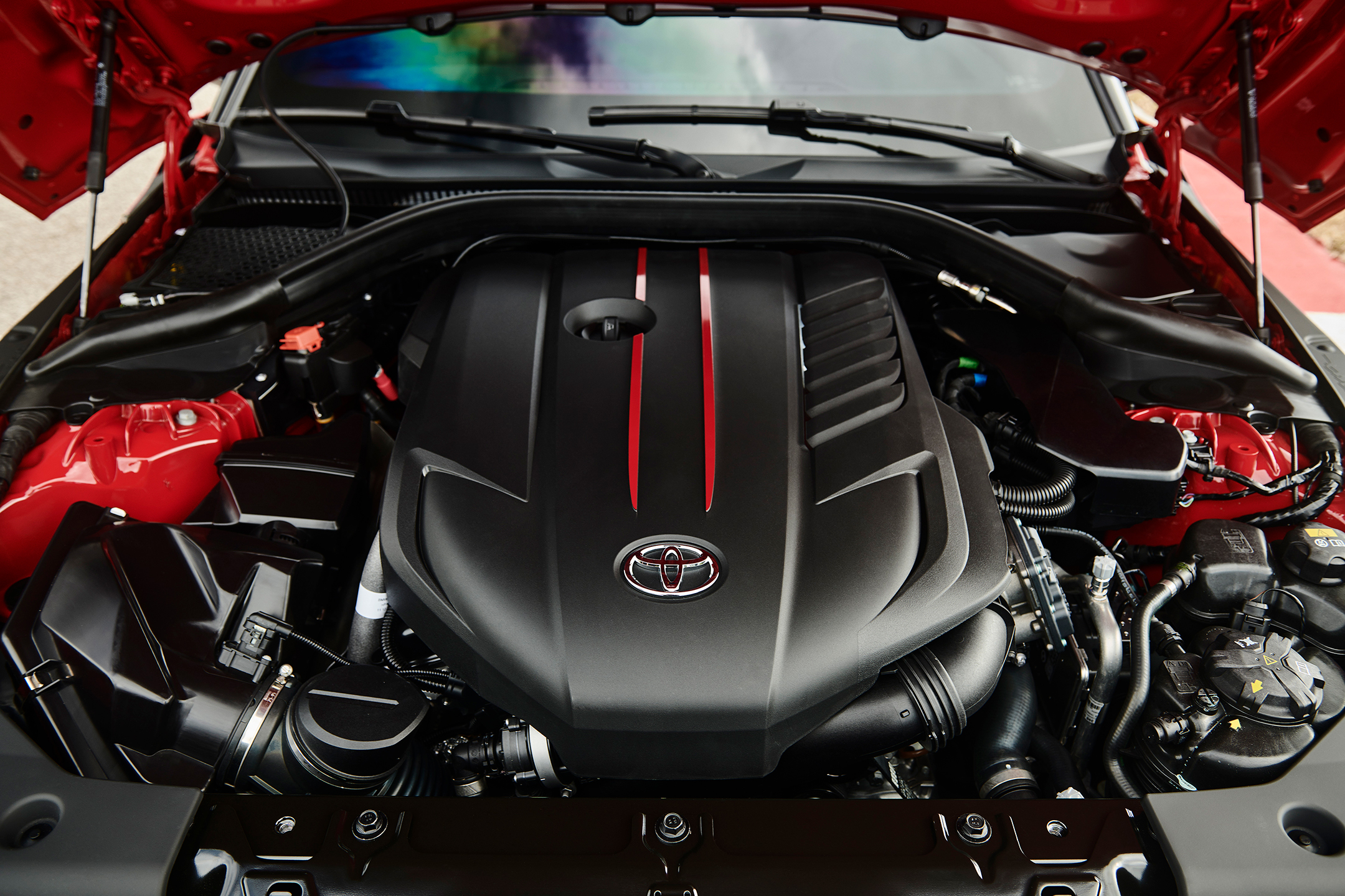 Toyota Supra - 2019 - under the hood - engine /moteur