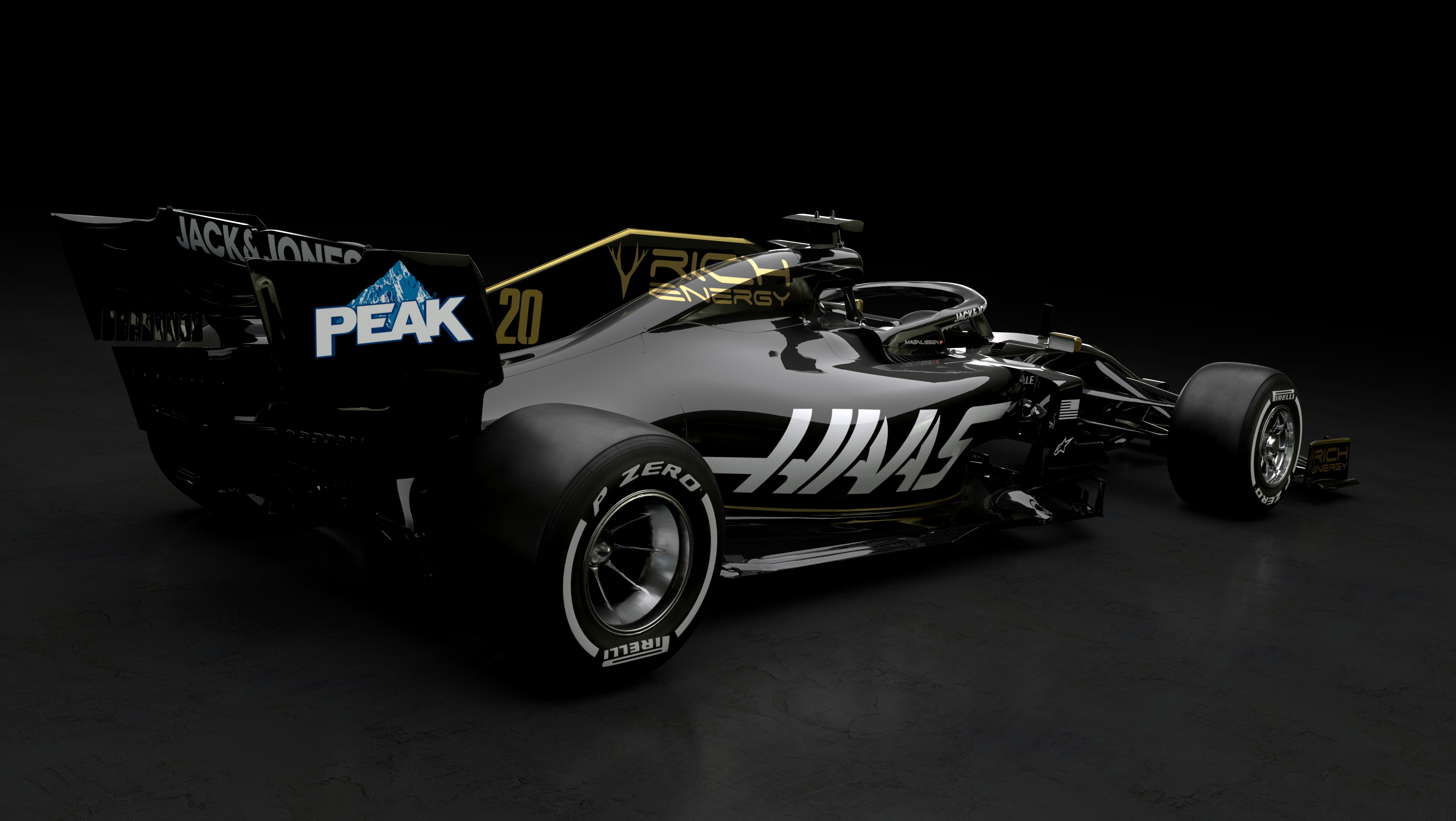 F1 2019 RICH ENERGY HAAS F1 TEAM VF19 - rear side-face / profil arrière