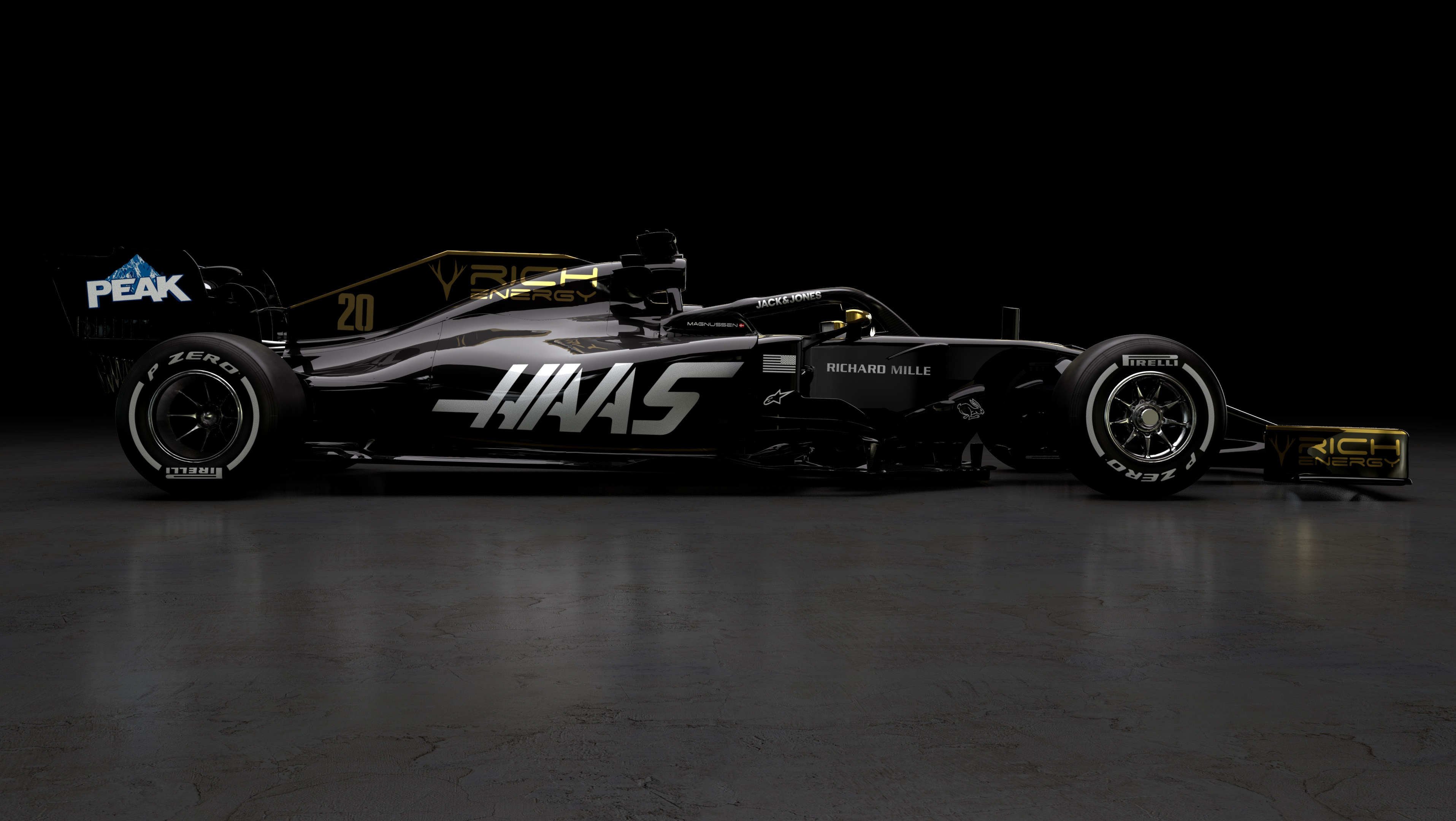 F1 2019 RICH ENERGY HAAS F1 TEAM VF19 - side-face / profil