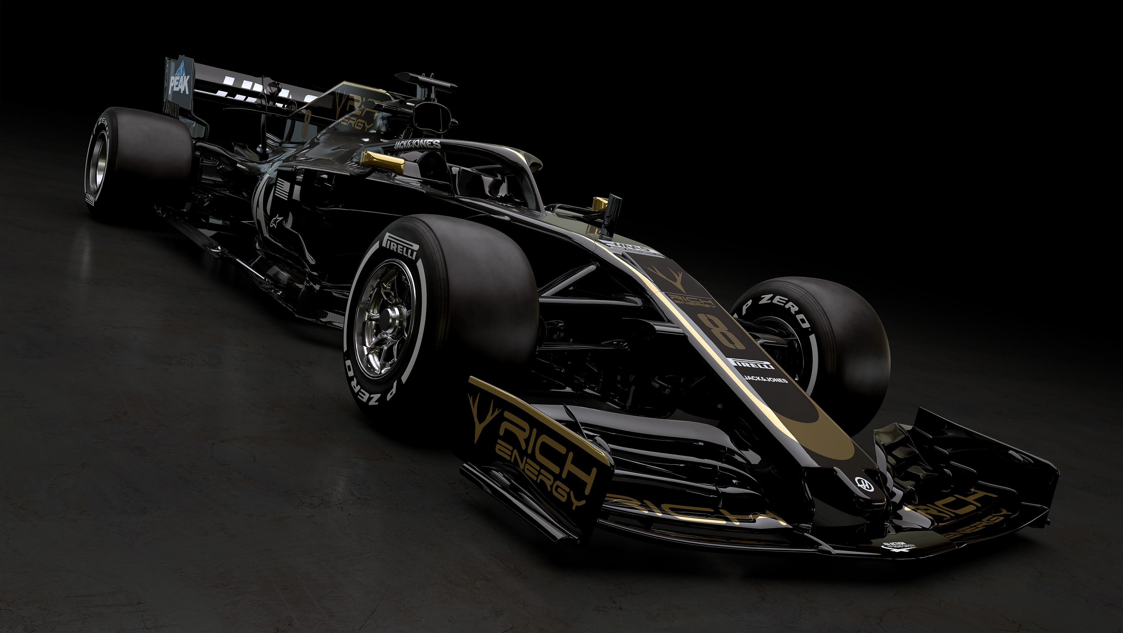 F1 2019 RICH ENERGY HAAS F1 TEAM VF19 - side front-face / profil avant