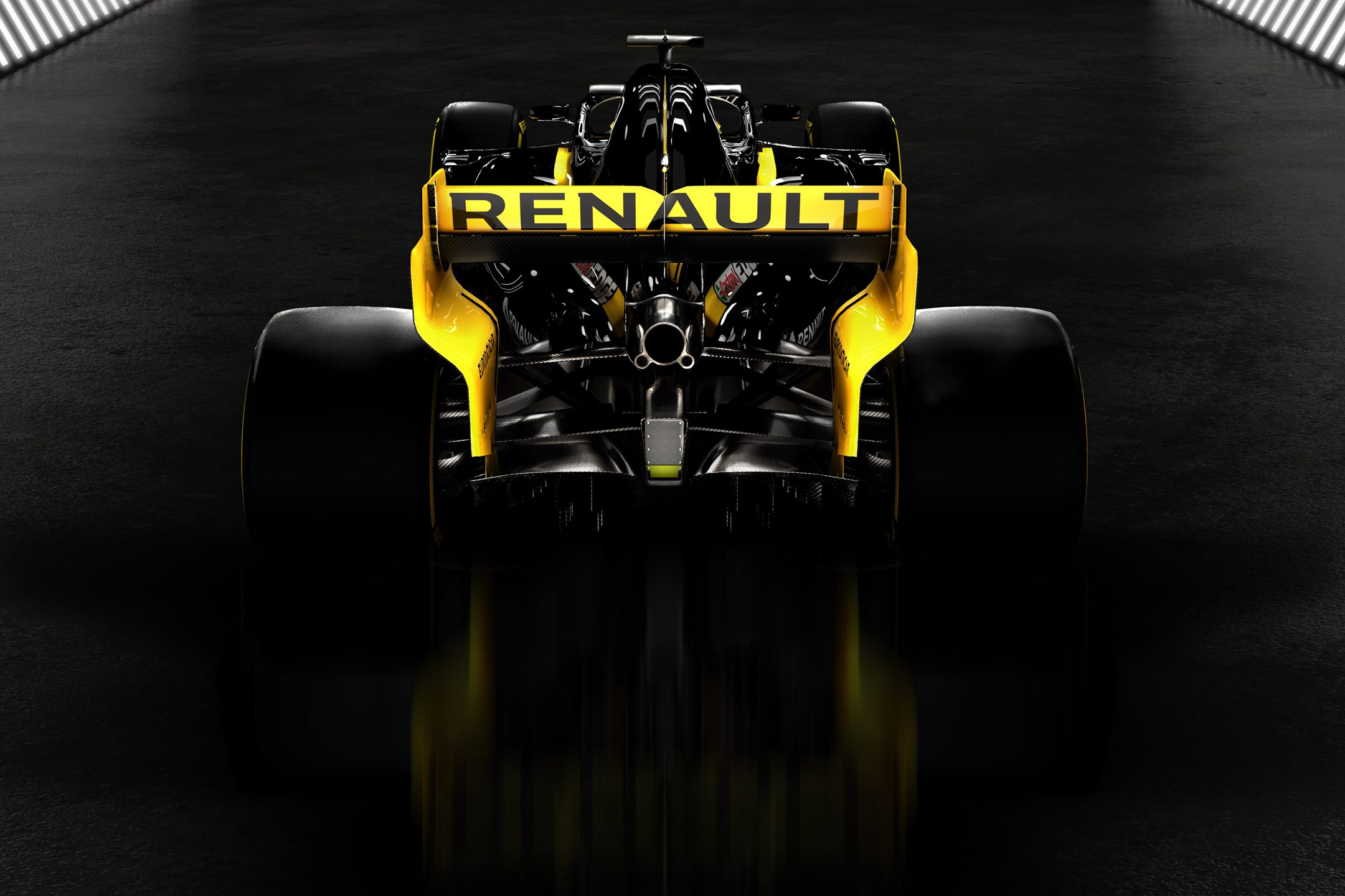F1 2019 - RENAULT F1 TEAM R.S.19 - rear face / face arrière - zoom