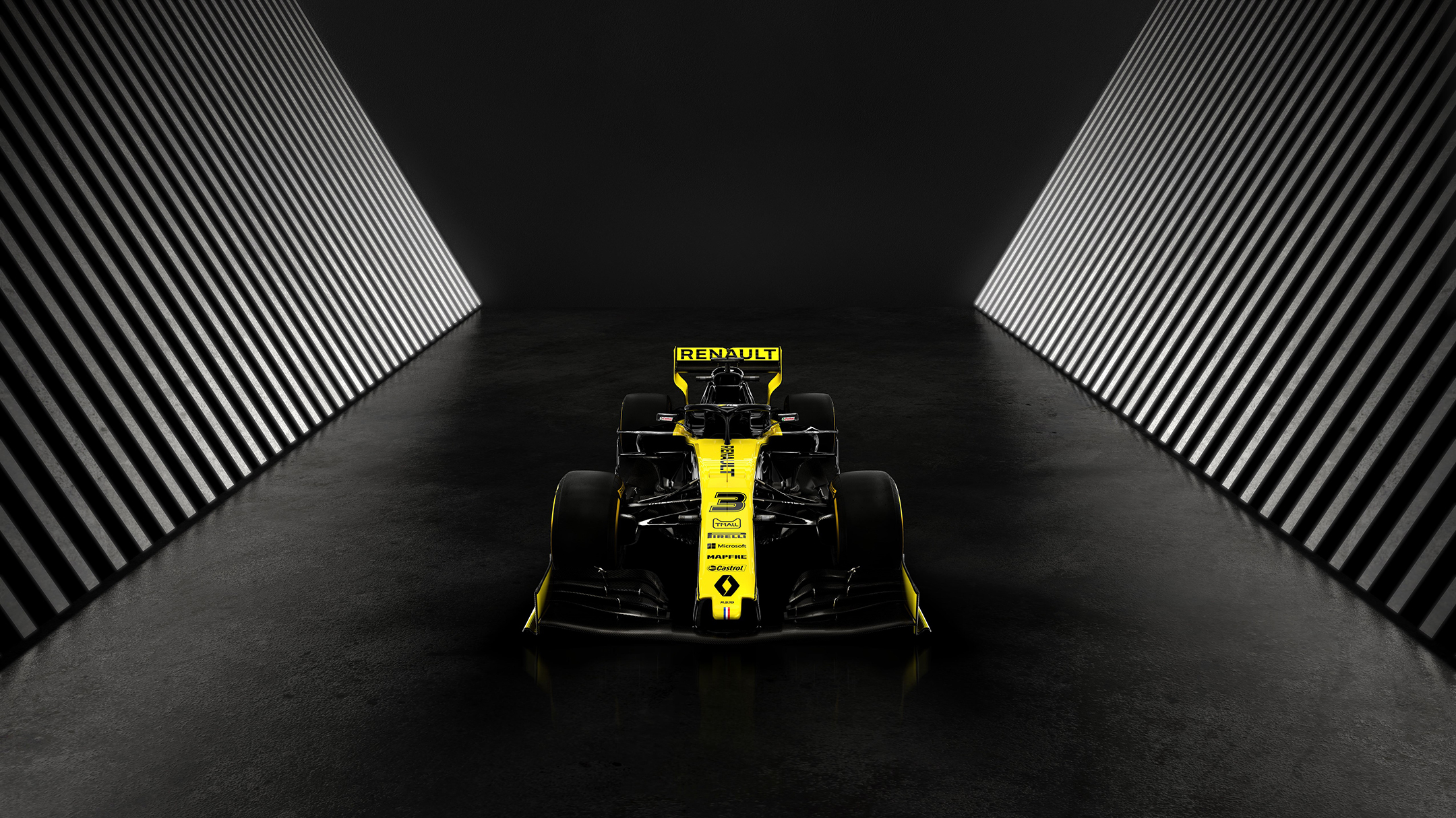 F1 2019 - RENAULT F1 TEAM R.S.19 - top front view