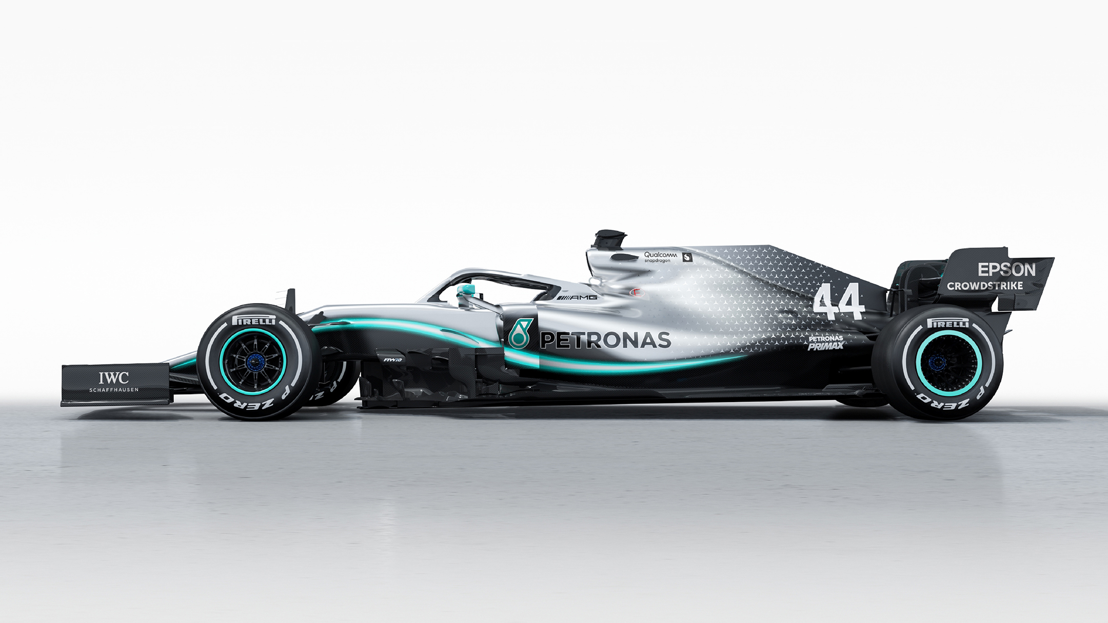 F1 2019 - MERCEDES-AMG W10 - side-face / profil