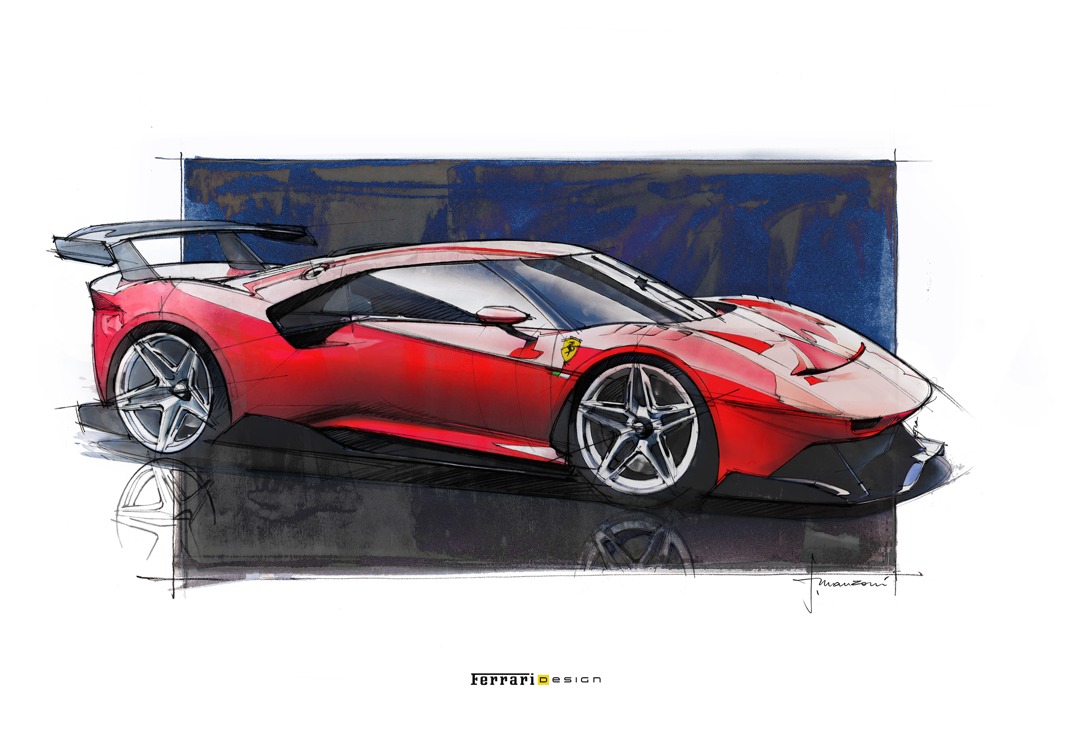 Ferrari P80/C - 2019 - design sketch
