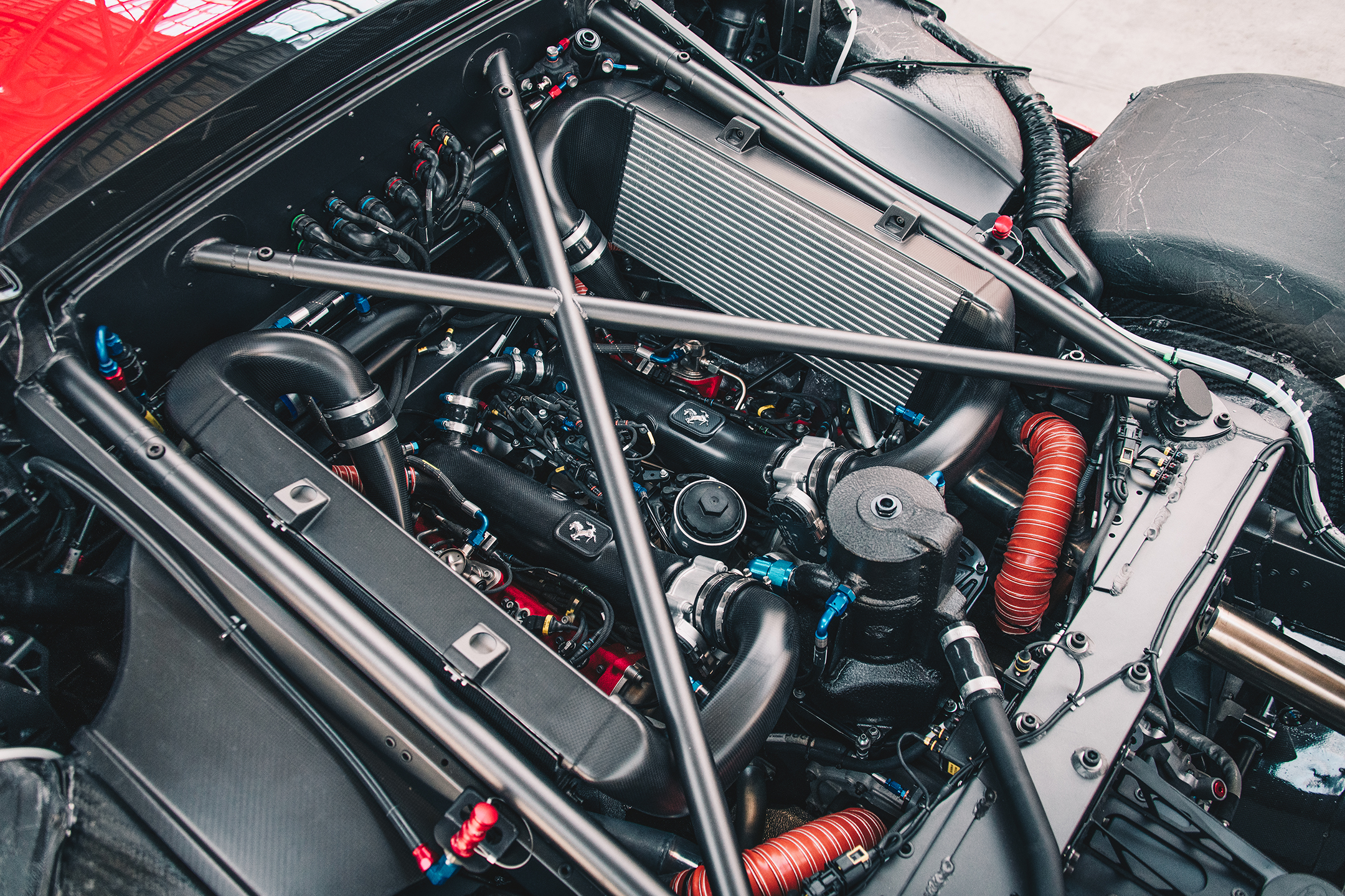 Ferrari P80/C - 2019 - under the hood - engine / moteur
