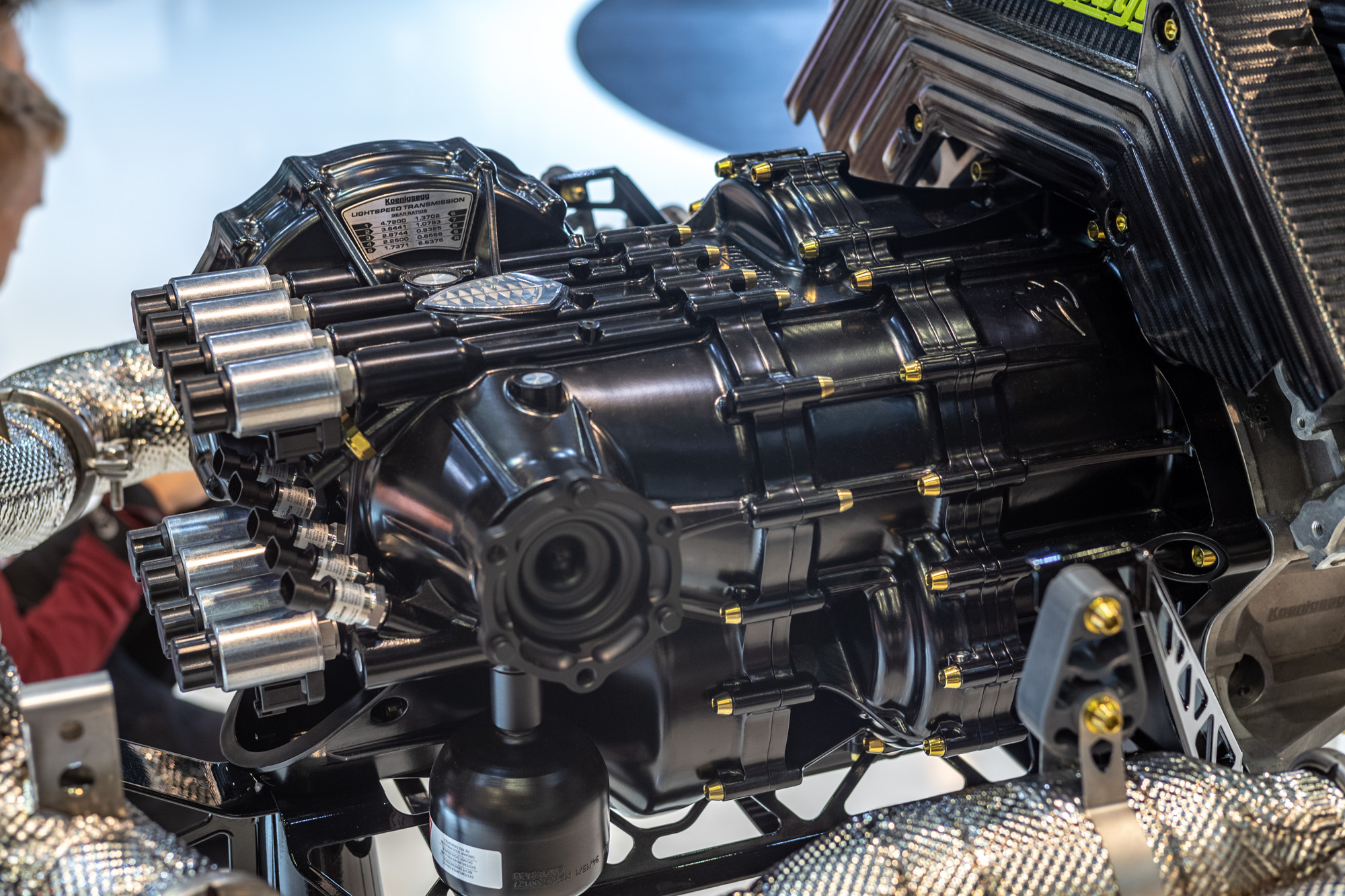 Koenigsegg Jesko - 2019 - Koenigsegg Light Speed Transmission (LST) gearbox - preview - Gims Swiss - photo by Steven Wade