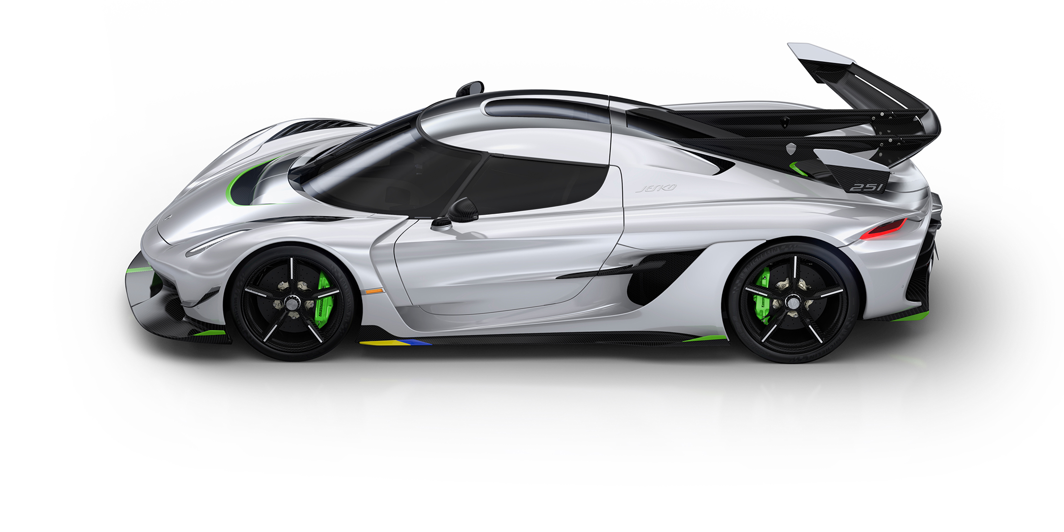 Koenigsegg Jesko - 2019 - top view - side-face / profil