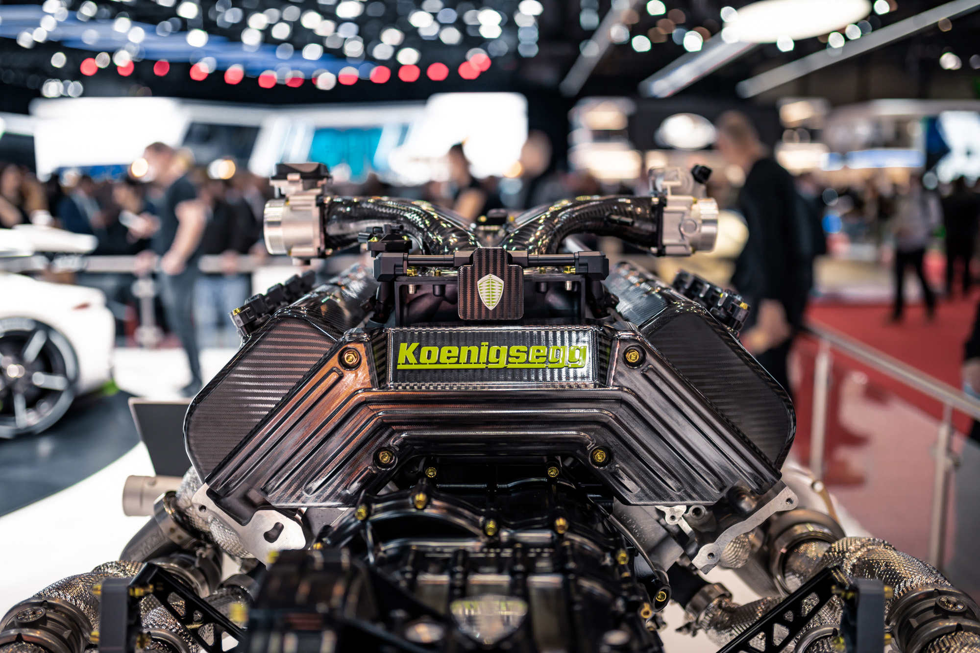 Koenigsegg Jesko - 2019 - V8 5.0L - engine / moteur - Gims Swiss - photo by Keno Zache