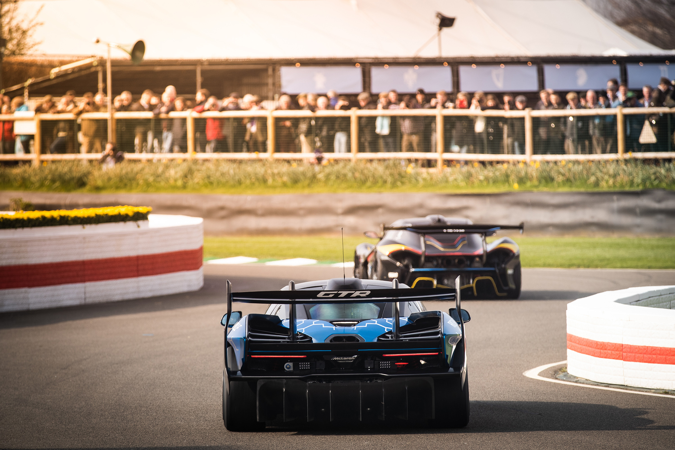 McLaren Senna GTR - Goodwood Motor Circuit - parade 77MM - 2019 - rear track - photo via McLaren Automotive