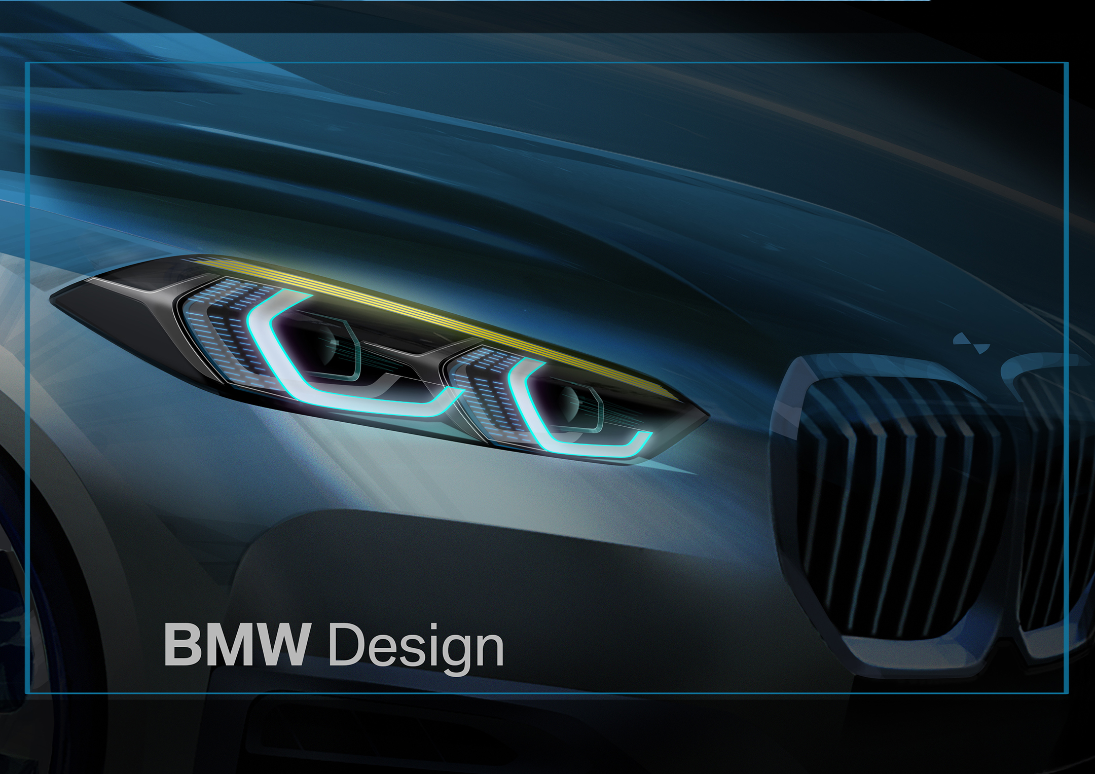 BMW 1 Series - 2019 - design sketch - front light