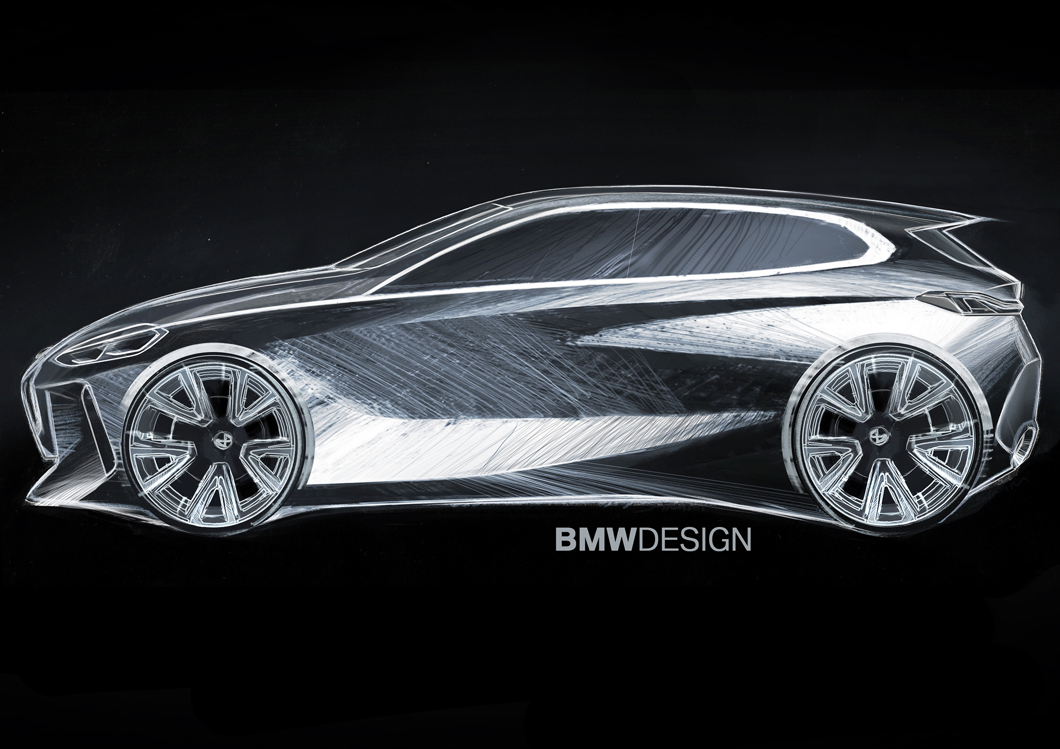 BMW 1 Series - 2019 - design sketch - side-face / profil