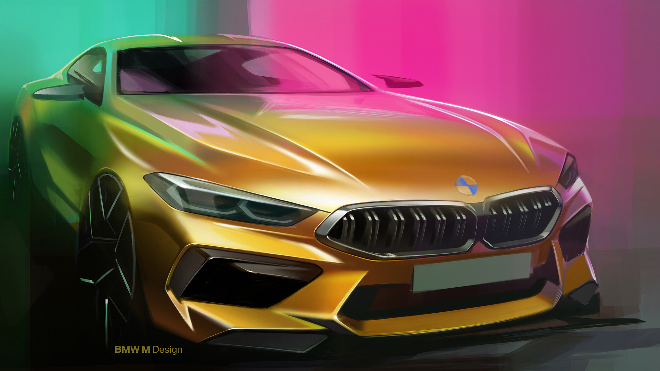 BMW M8 Competition Coupe - 2019 - front / avant - sketch design