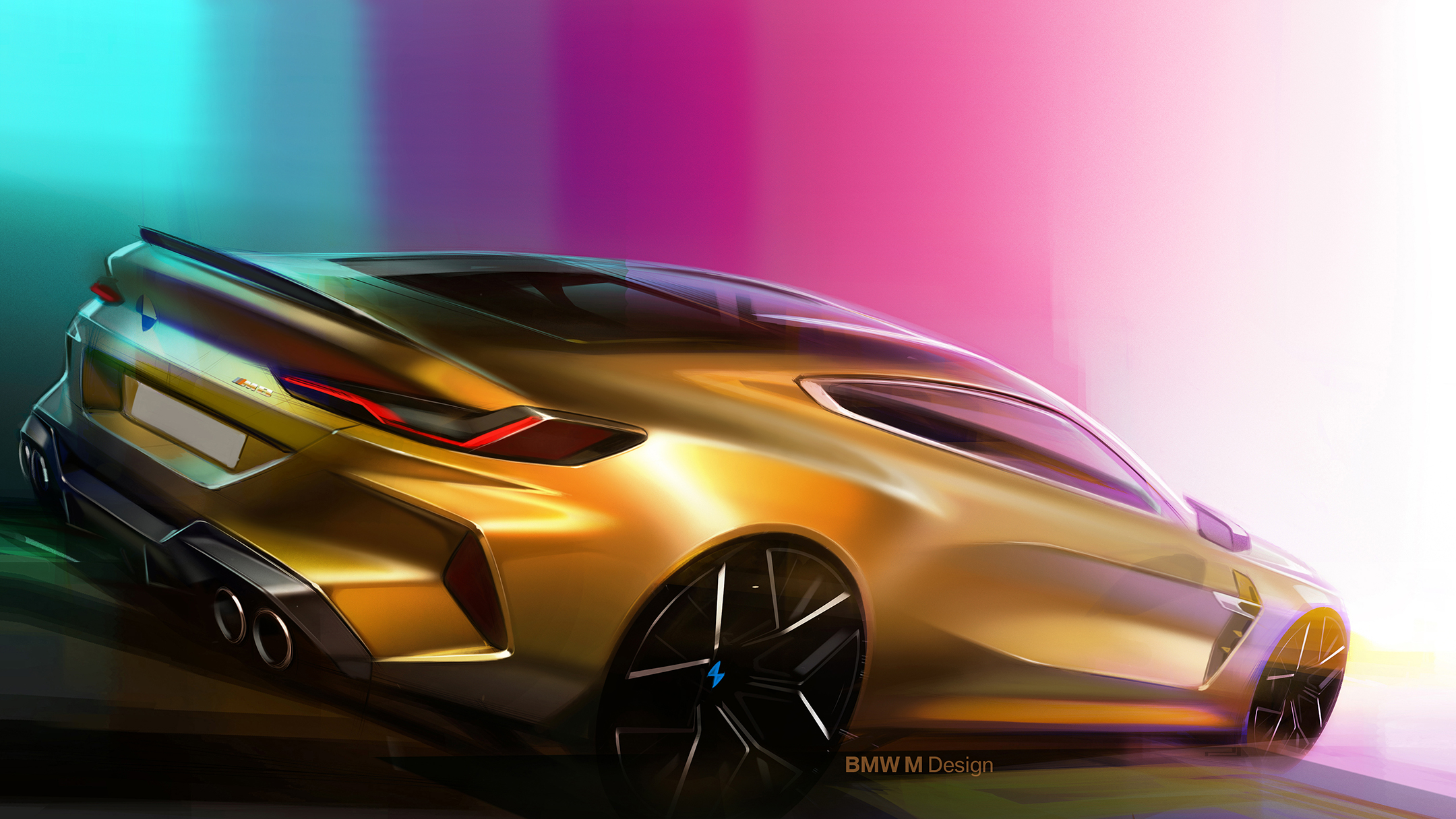 BMW M8 Competition Coupe - 2019 - rear / arrière - sketch design