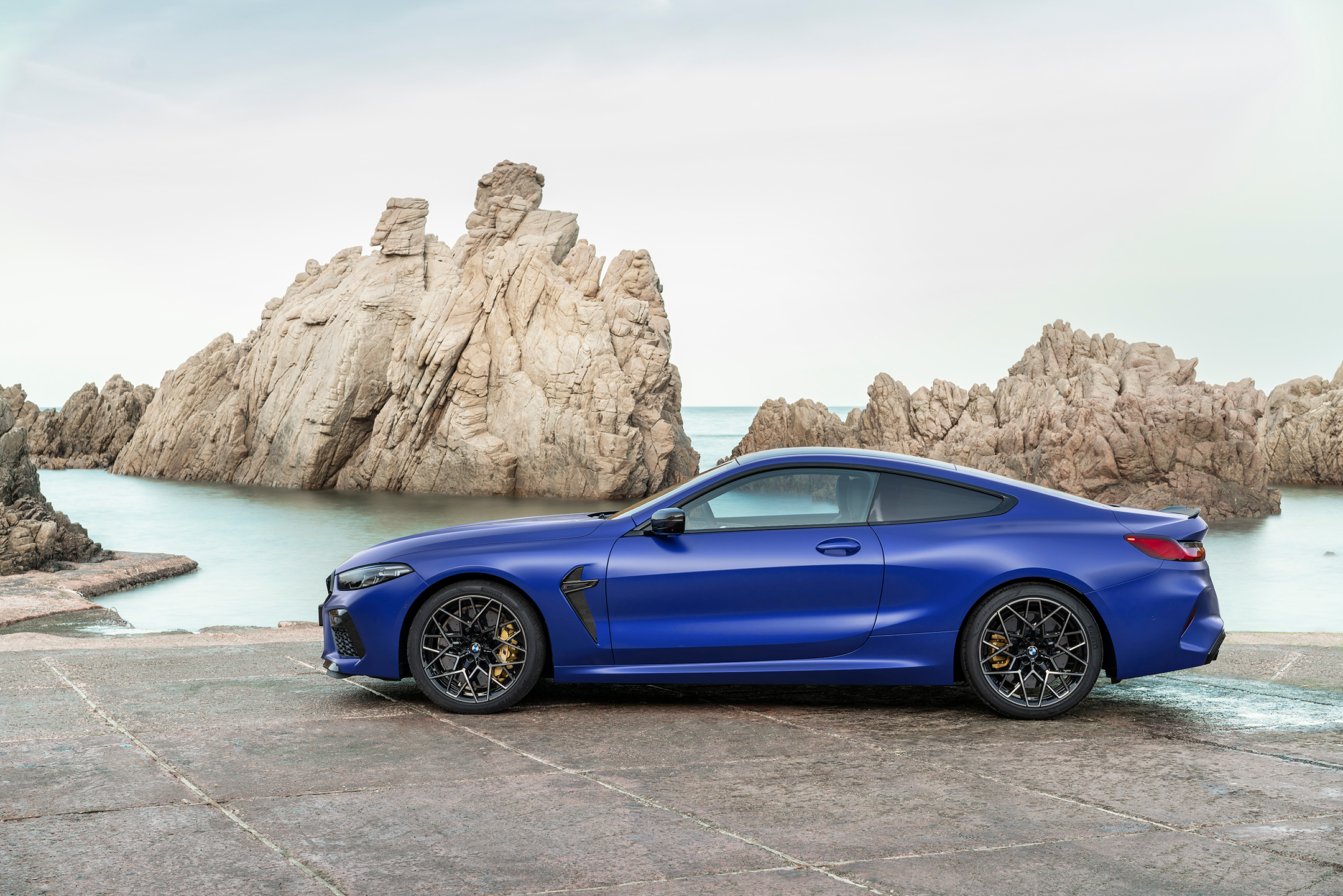 BMW M8 Competition Coupe - 2019 - side-face / profil