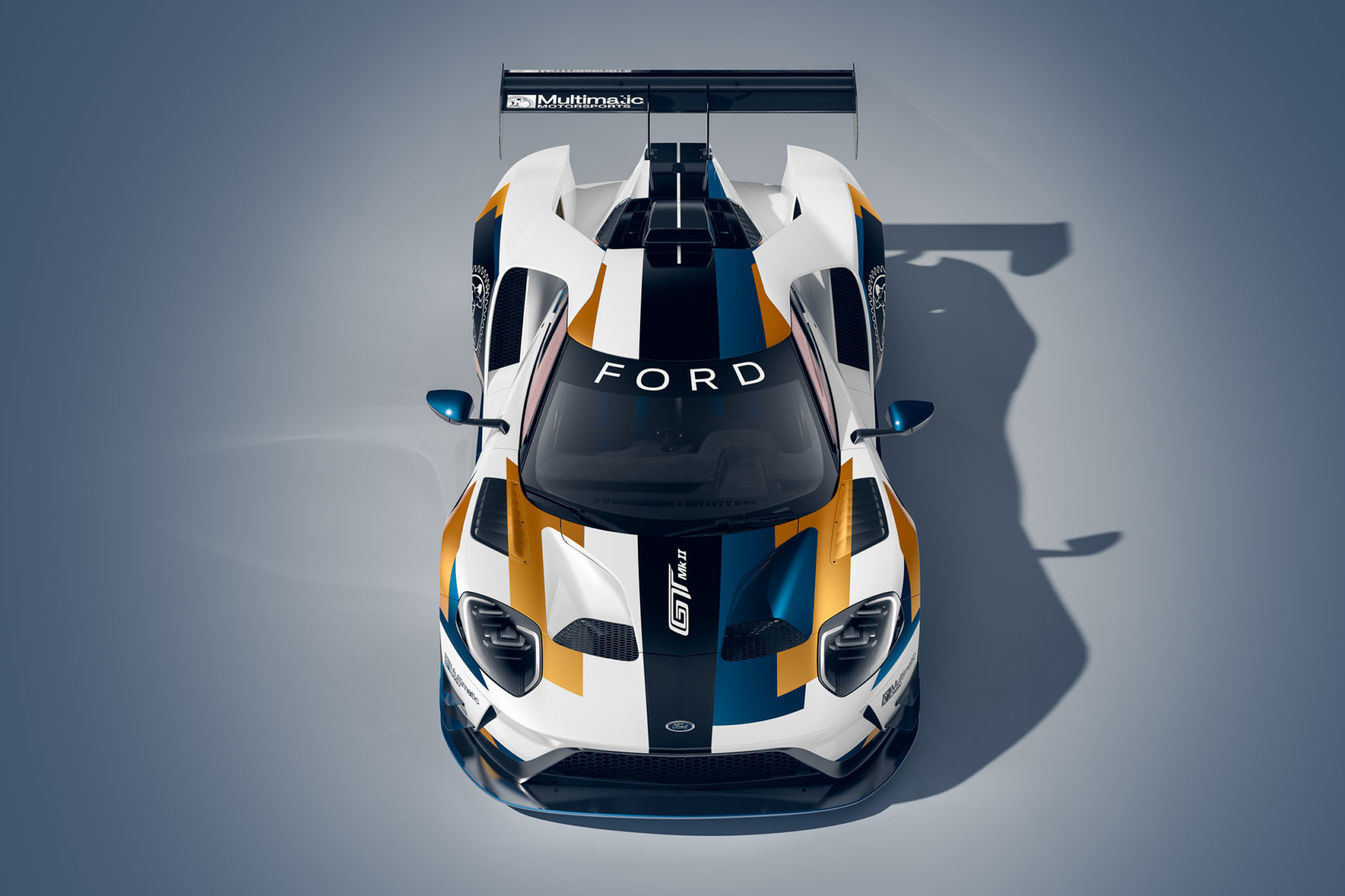 Ford GT Mk II - 2019 - front / avant - top view