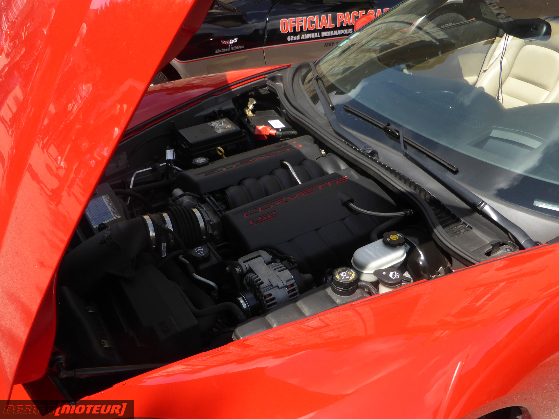 Chevrolet Corvette C6 - engine LS2 - under the hood - US Cars and Bikes 2019 - photo ELJ DESIGNMOTEUR