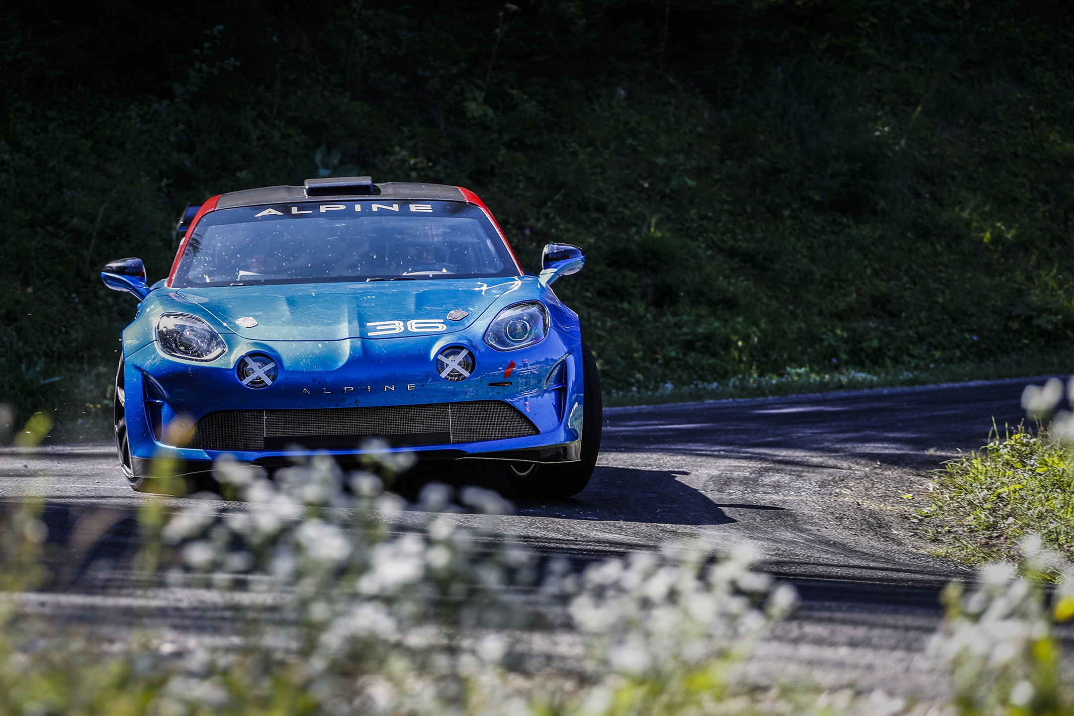 Alpine A110 Rally - 2019 - front-face / face avant - speed road