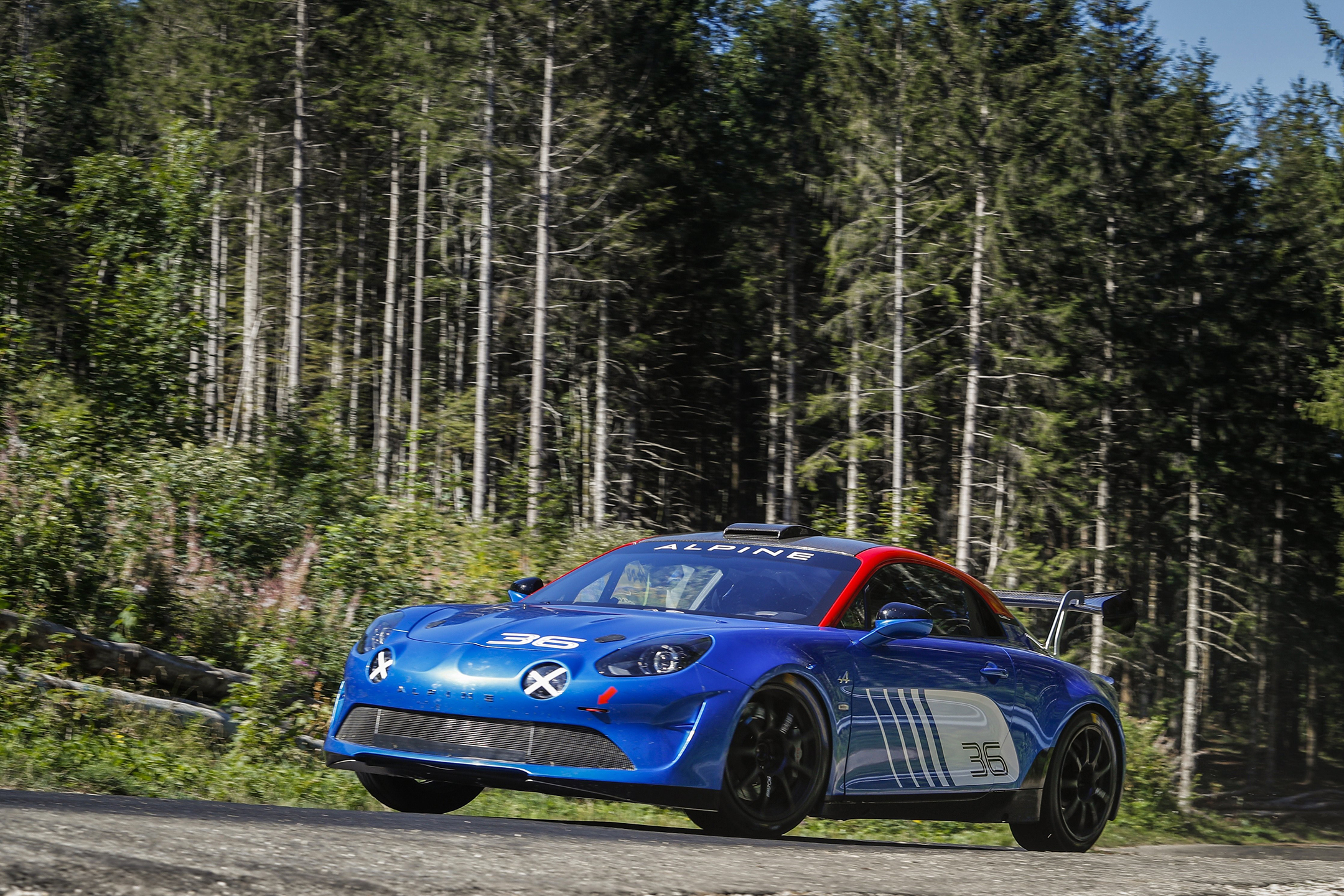 Alpine A110 Rally - 2019 - front side-face / profil avant - road