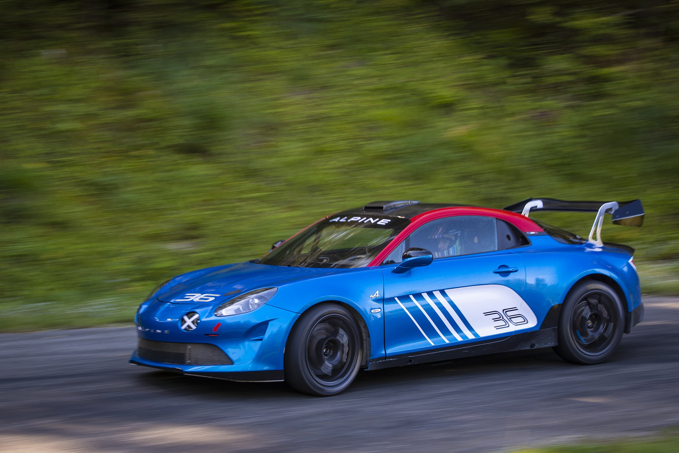 Alpine A110 Rally - 2019 - front side-face / profil avant - speed road
