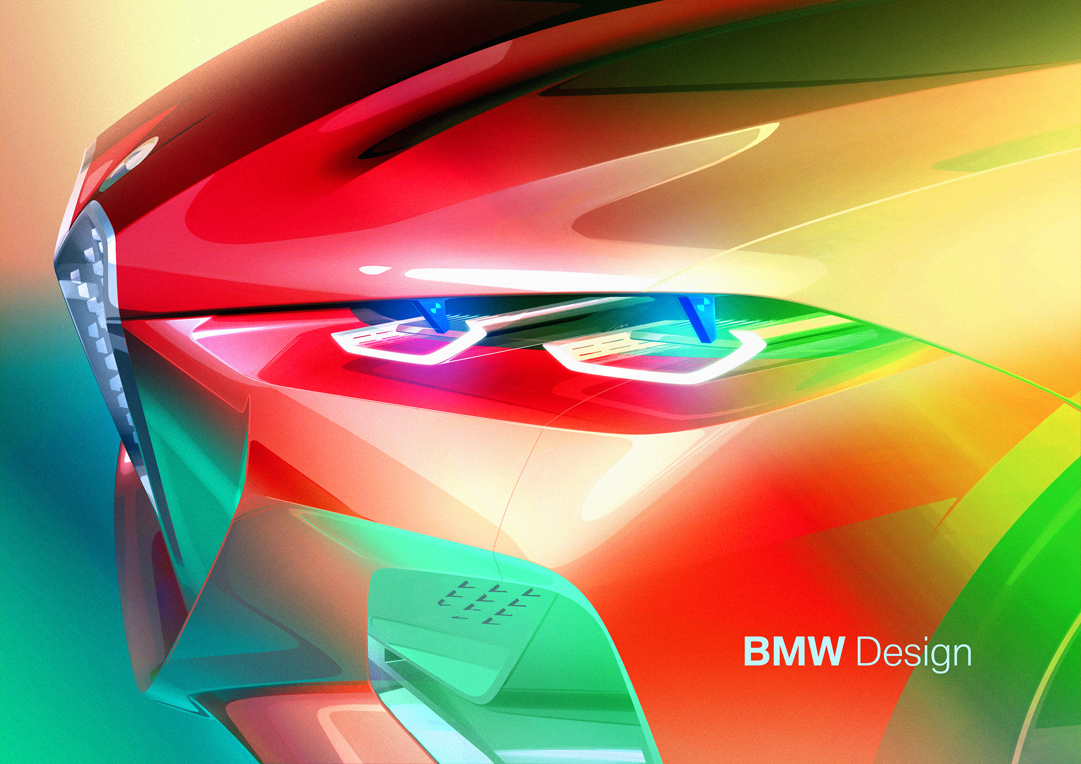 BMW Concept 4 - 2019 - sketch - front light / optique avant