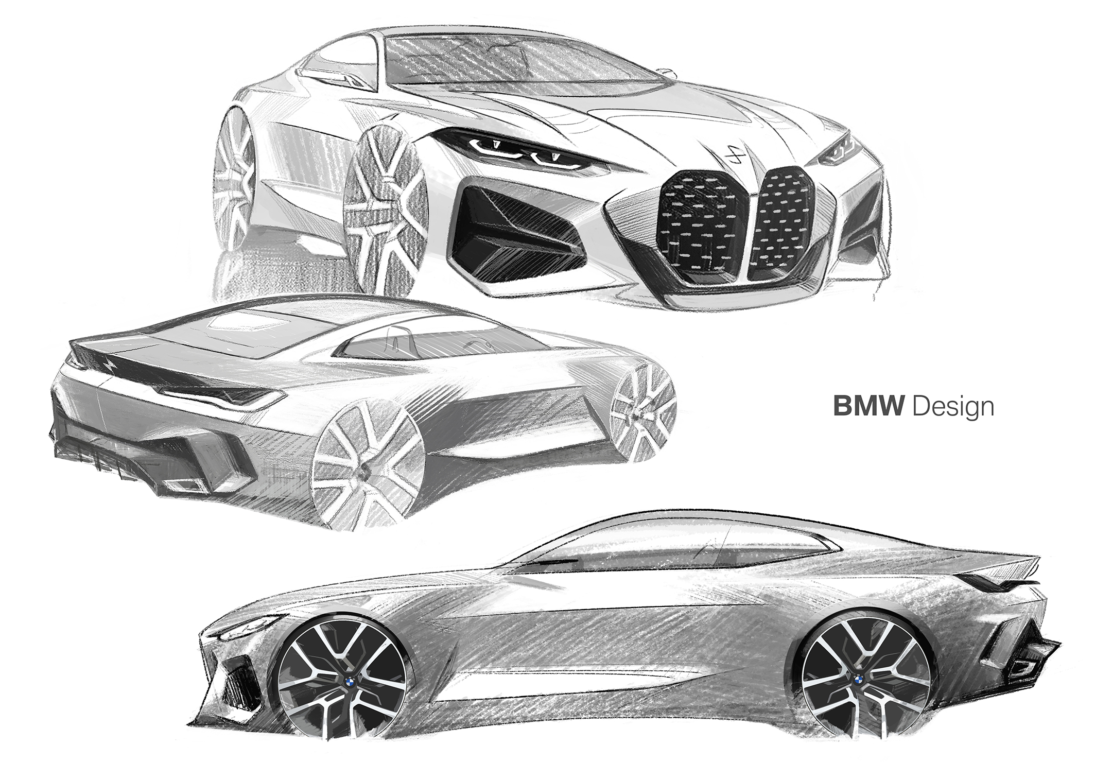 BMW Concept 4 - 2019 - sketch design