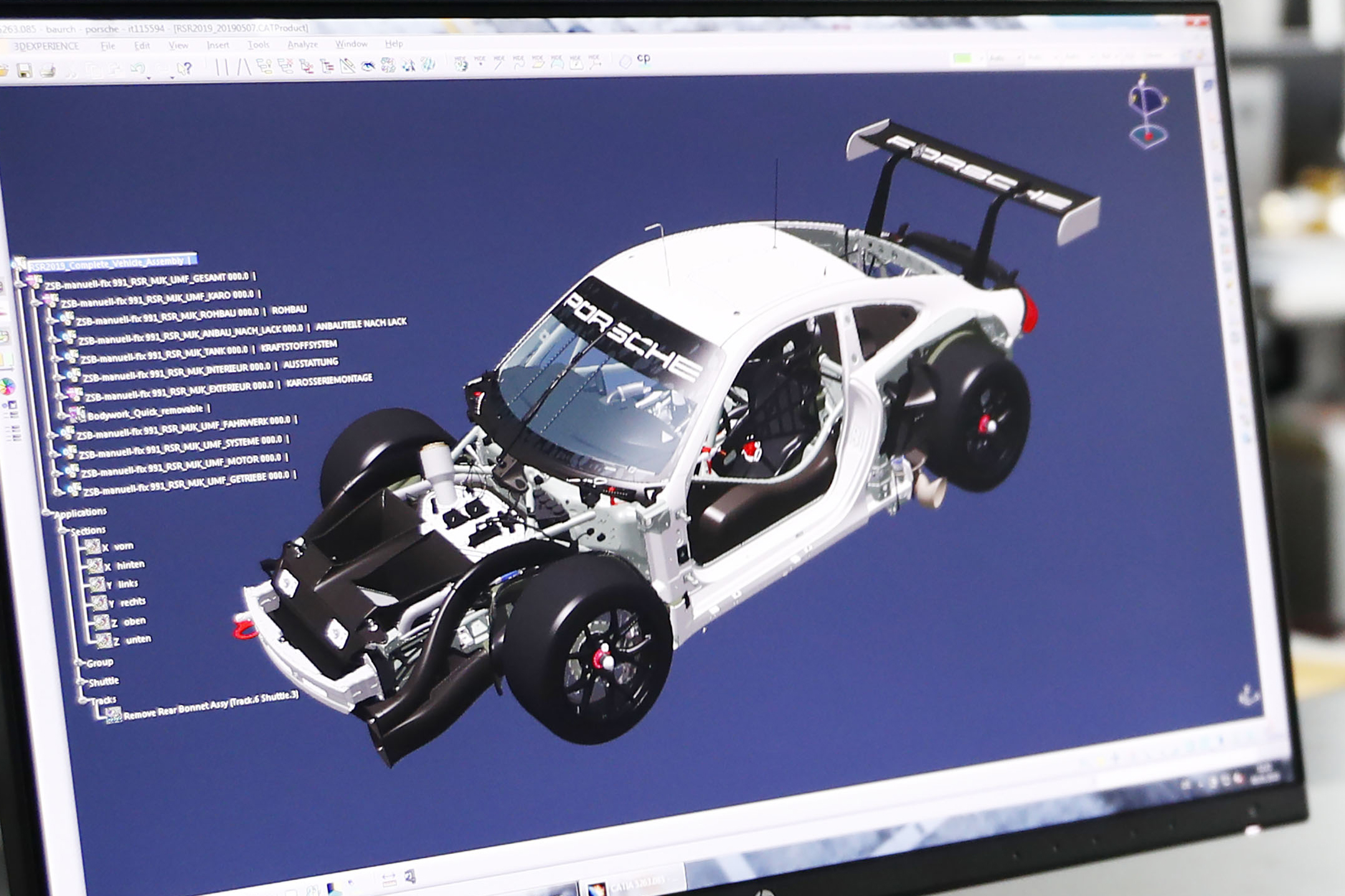 Porsche 911 RSR-19 - 2019 - software preview - work in progress