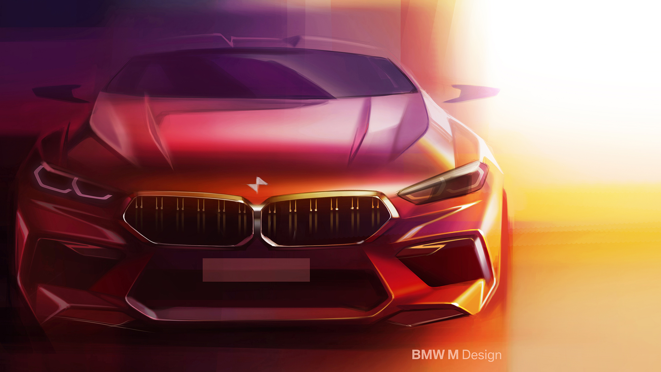 BMW M8 Competition Gran Coupé - 2019 - sketch design - front-face / face avant