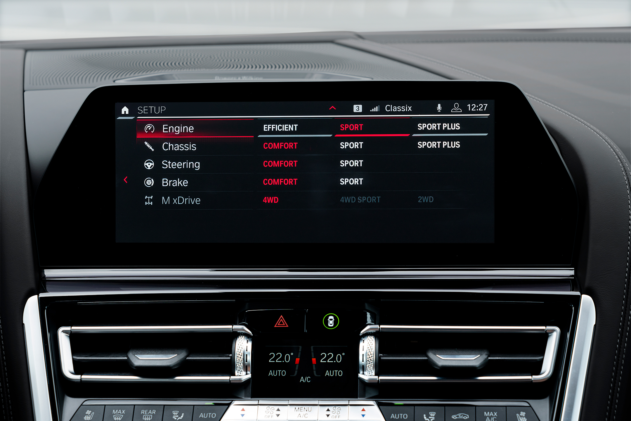 BMW M8 Competition Gran Coupé - 2019 - central dashboard / tableau de bord central