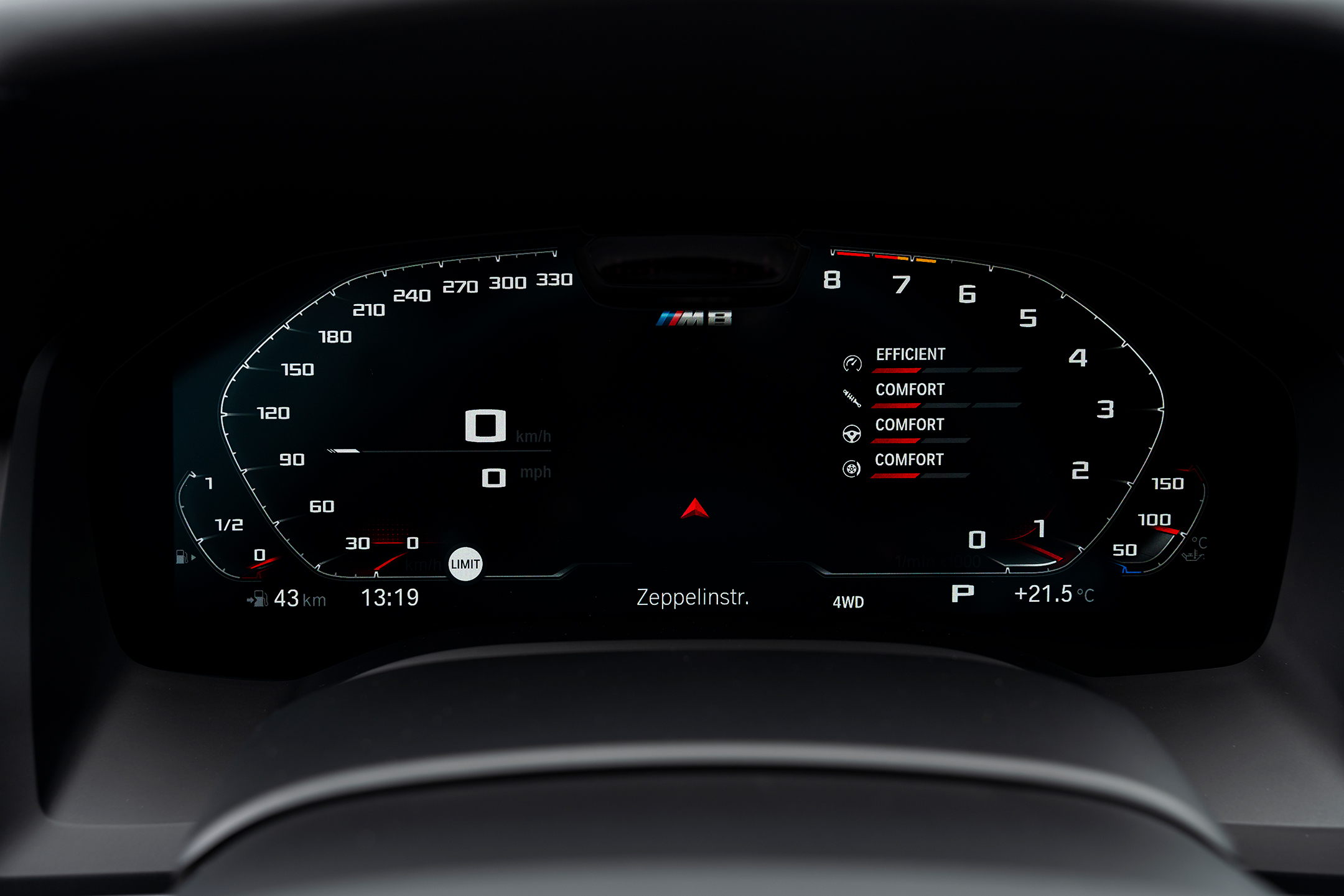BMW M8 Competition Gran Coupé - 2019 - dashboard / tableau de bord